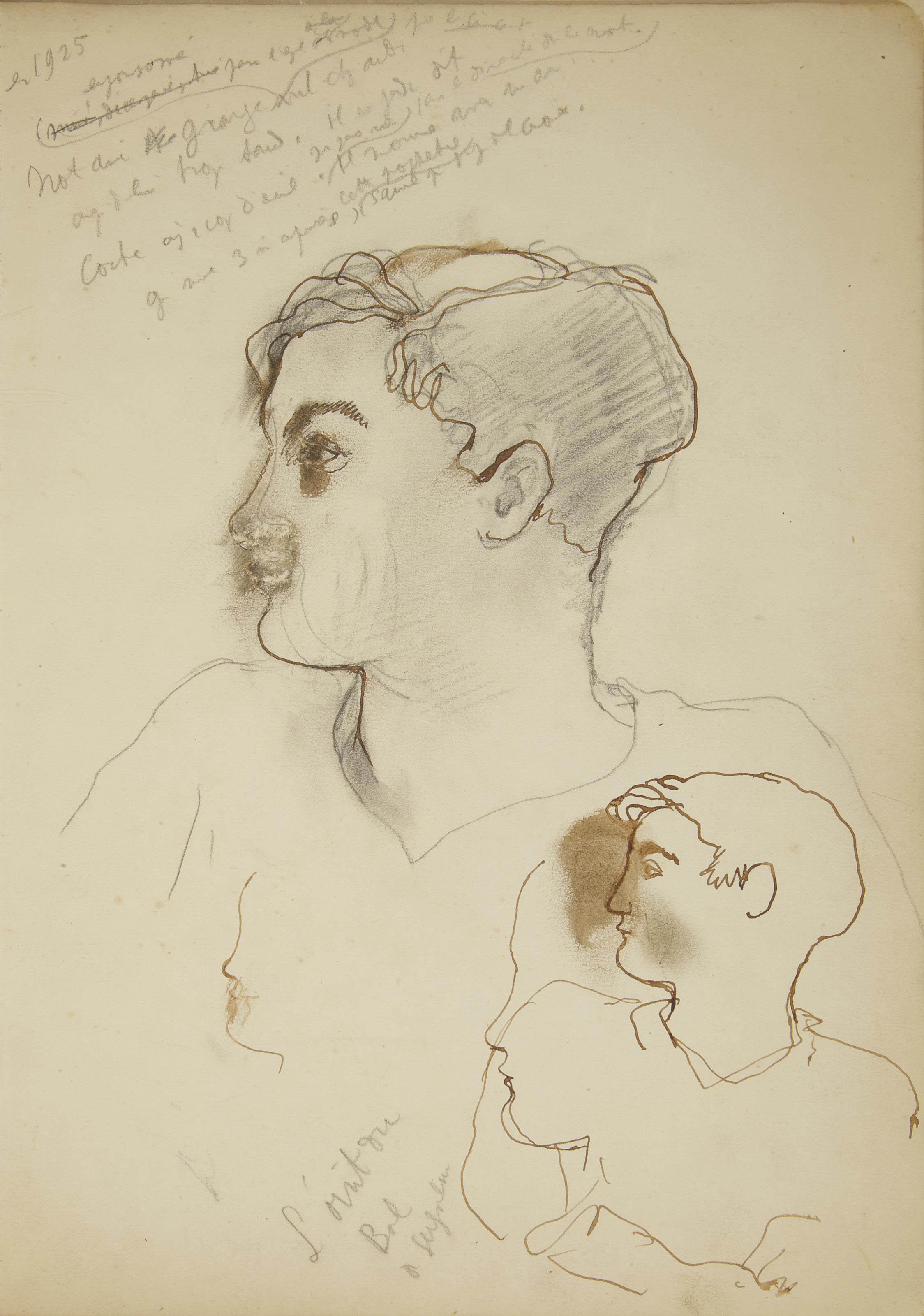 COCTEAU, Jean (1889-1963). Carnet de croquis. Vers 1926.