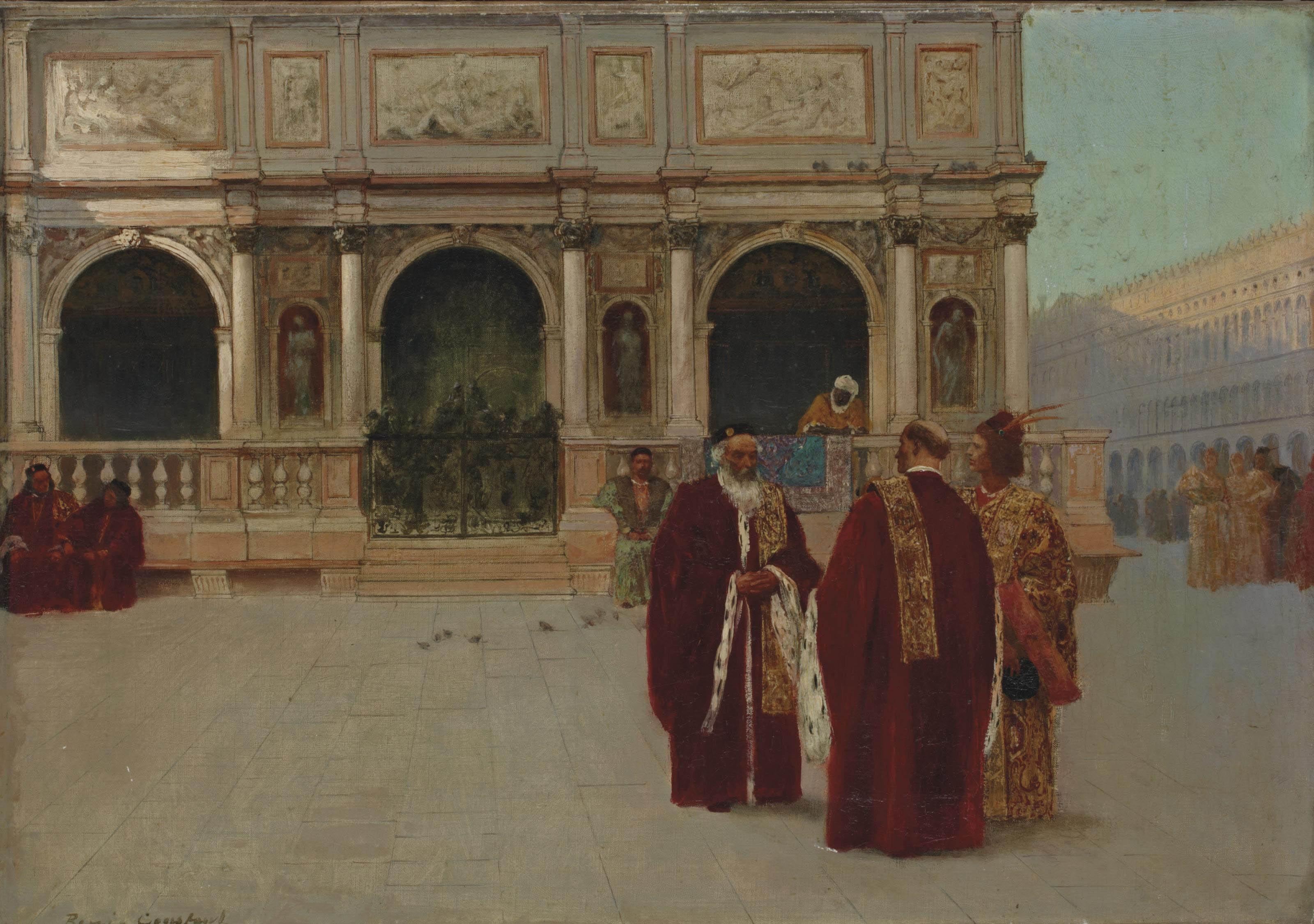 Façade de la Loggetta sur la place Saint-Marc à Venise