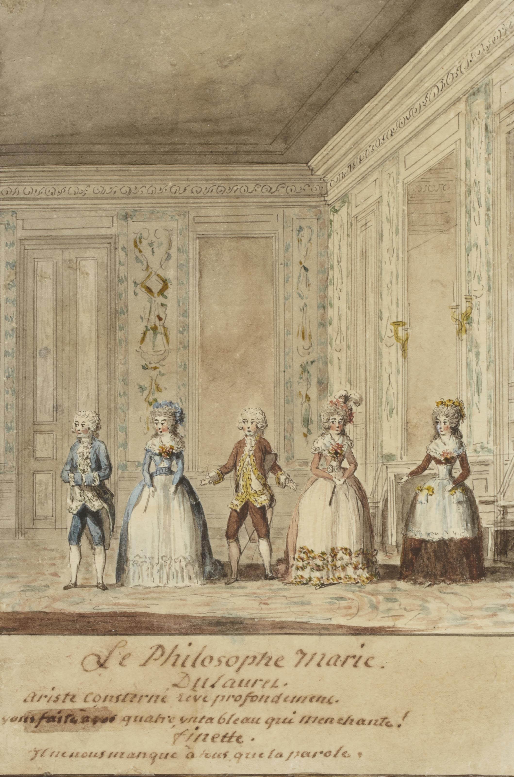 Scène du Philosophe marié de Philippe Néricault Destouches