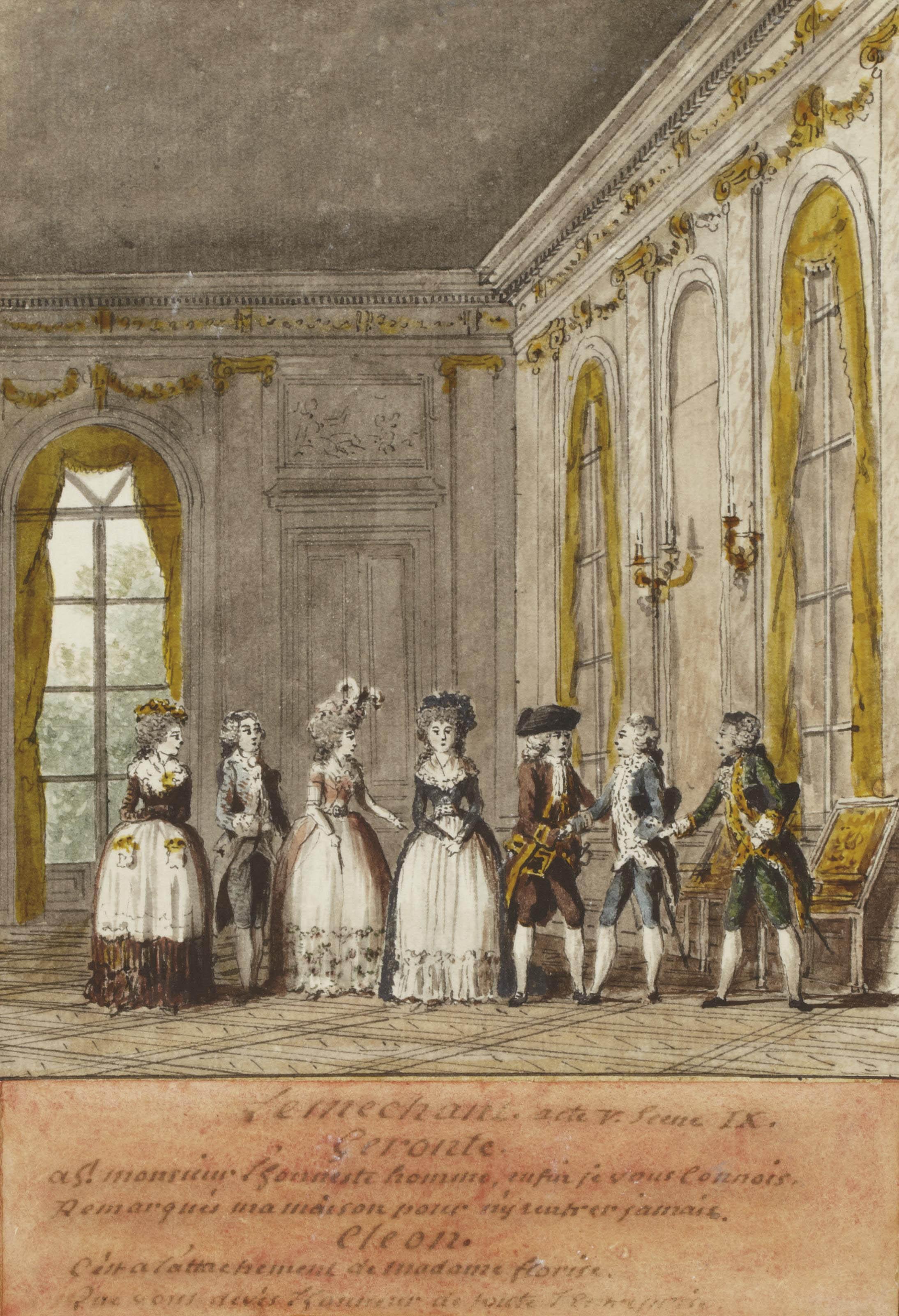 Le Méchant de Jean-Baptiste-Louis Gresset: rencontre entre Géronte et Cléon