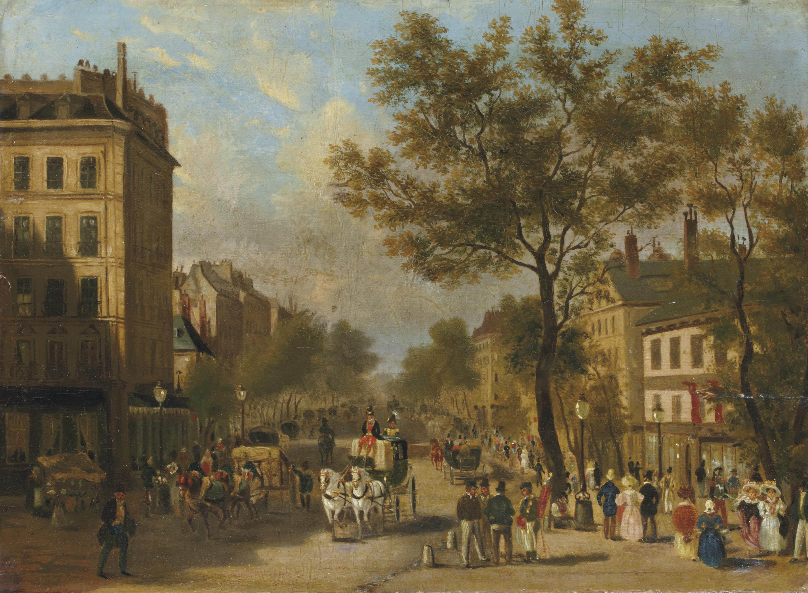 Le Boulevard Montmartre vers 1830