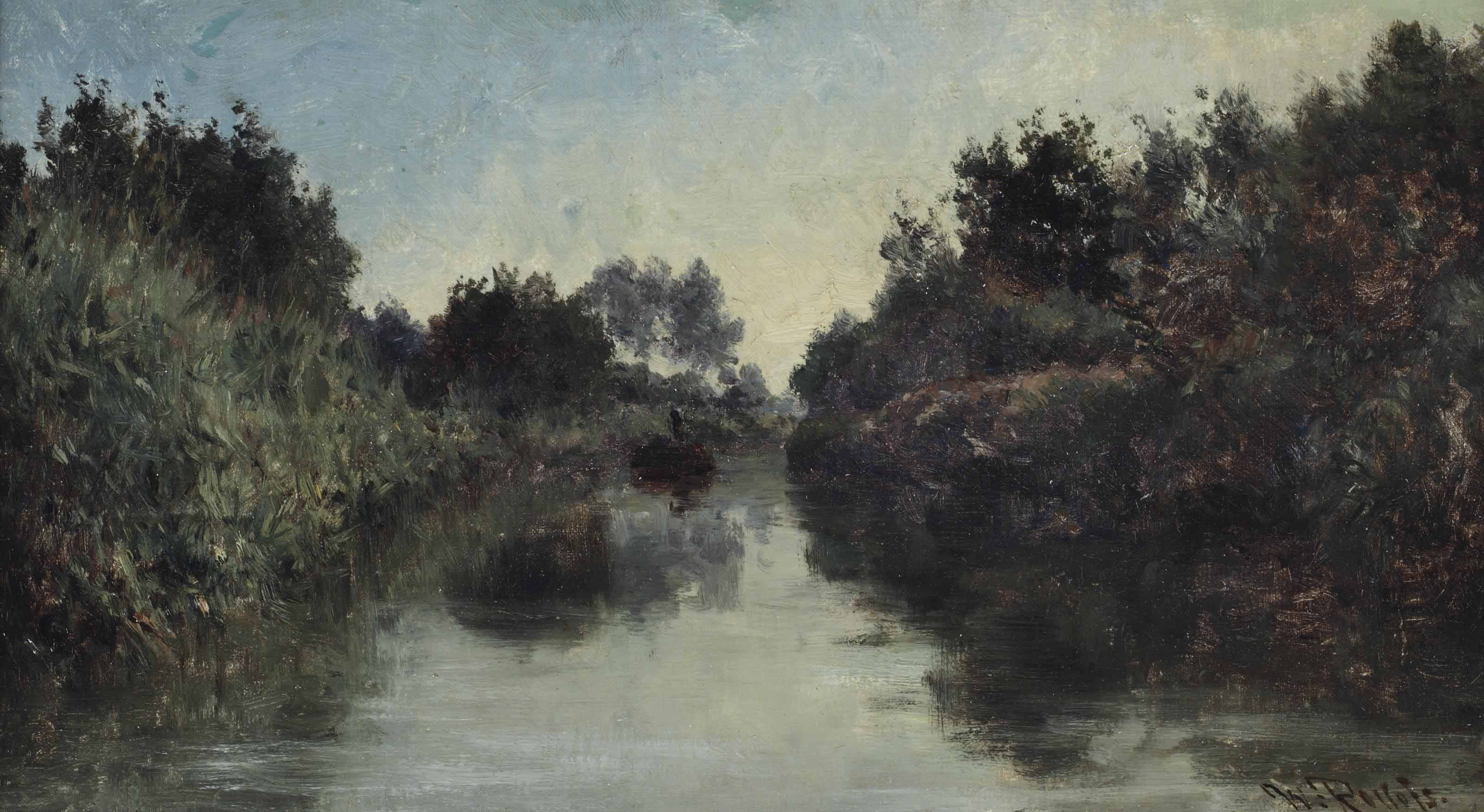 View of a canal with a punt
