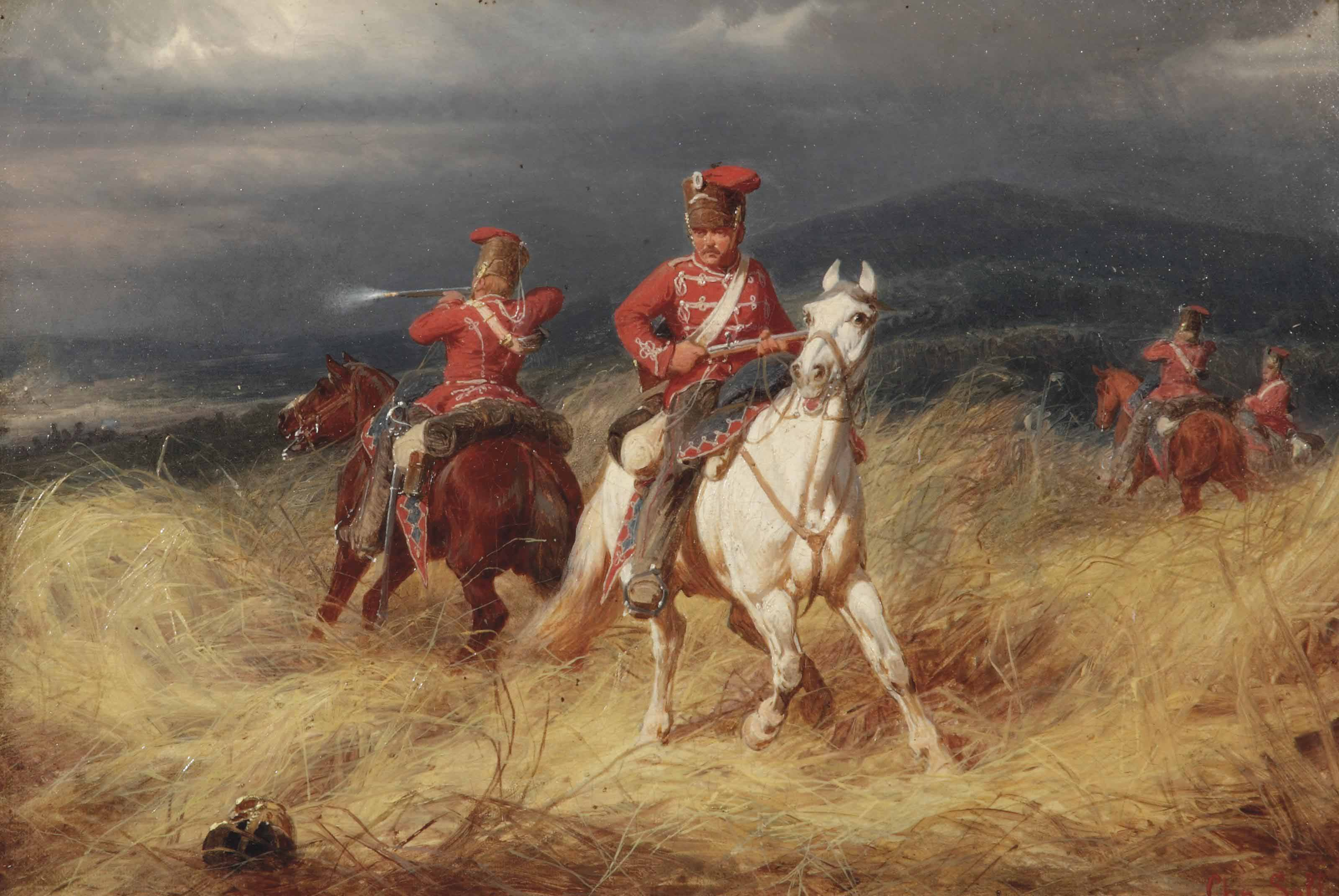 Hussars in battle