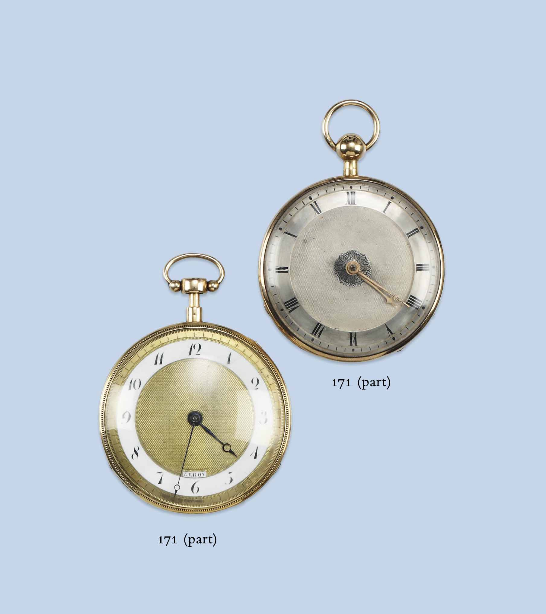 FIVE ANTIQUE GOLD POCKETWATCHES