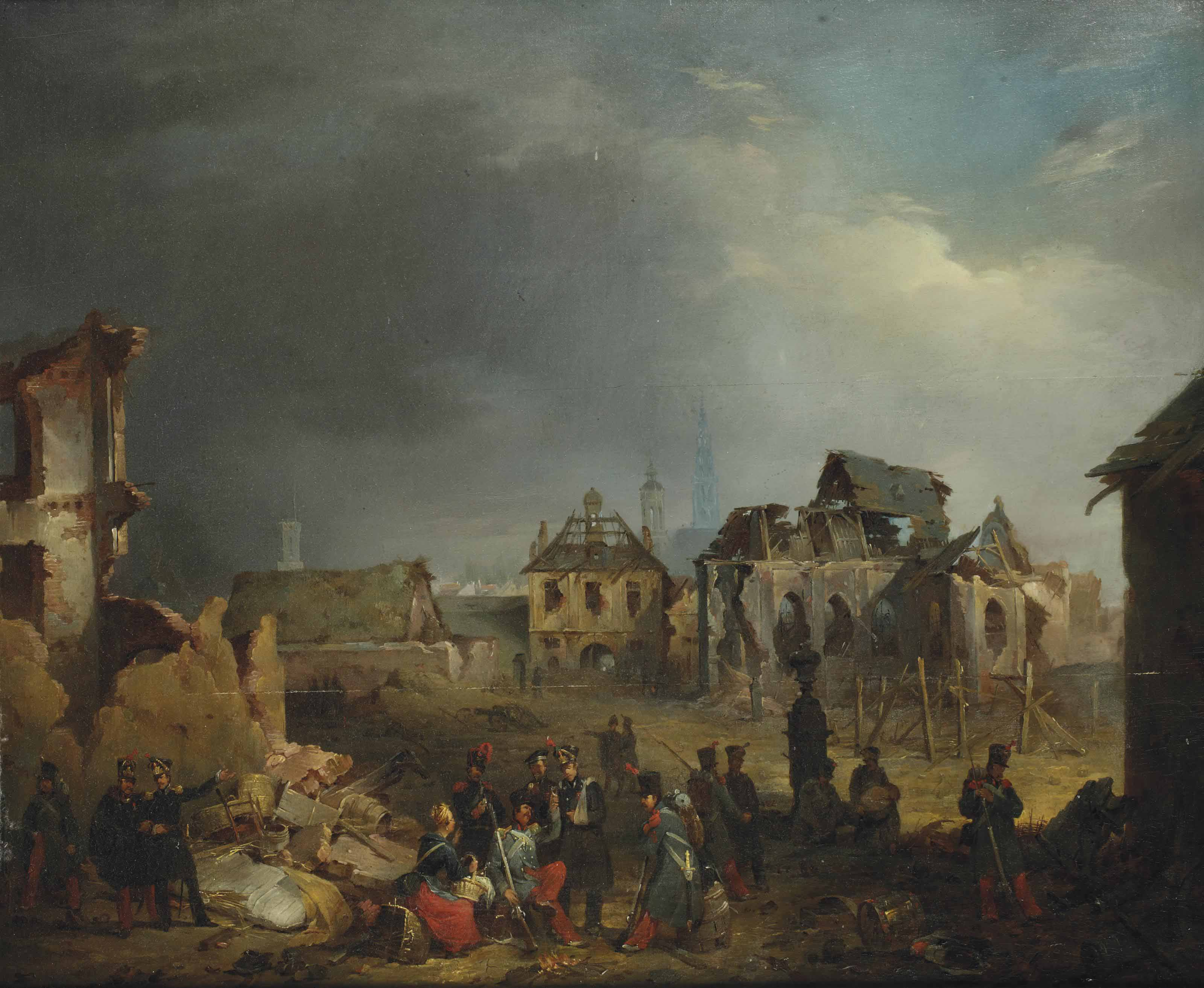 After the bombardment of Antwerp in 1830