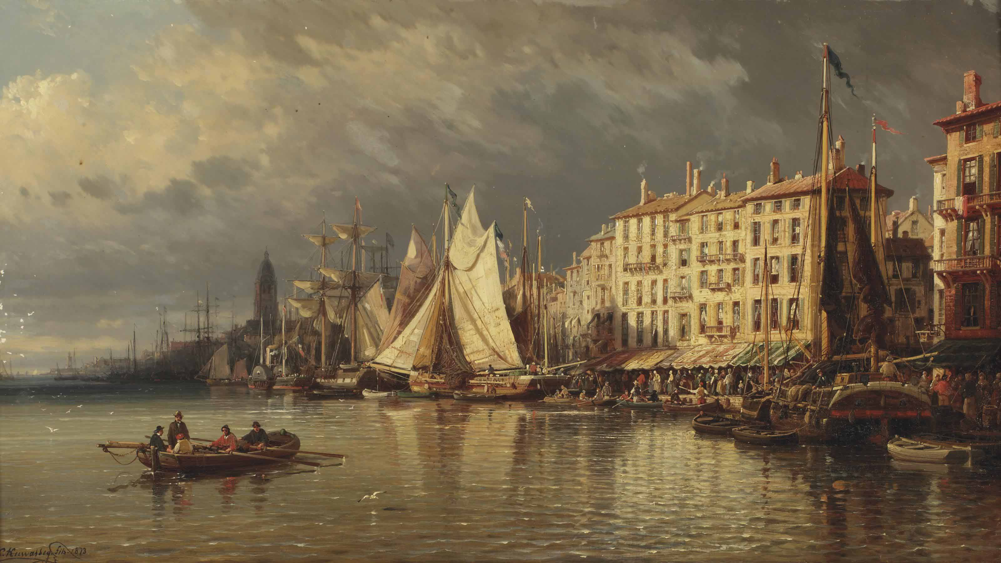A view of a Mediterranean harbour