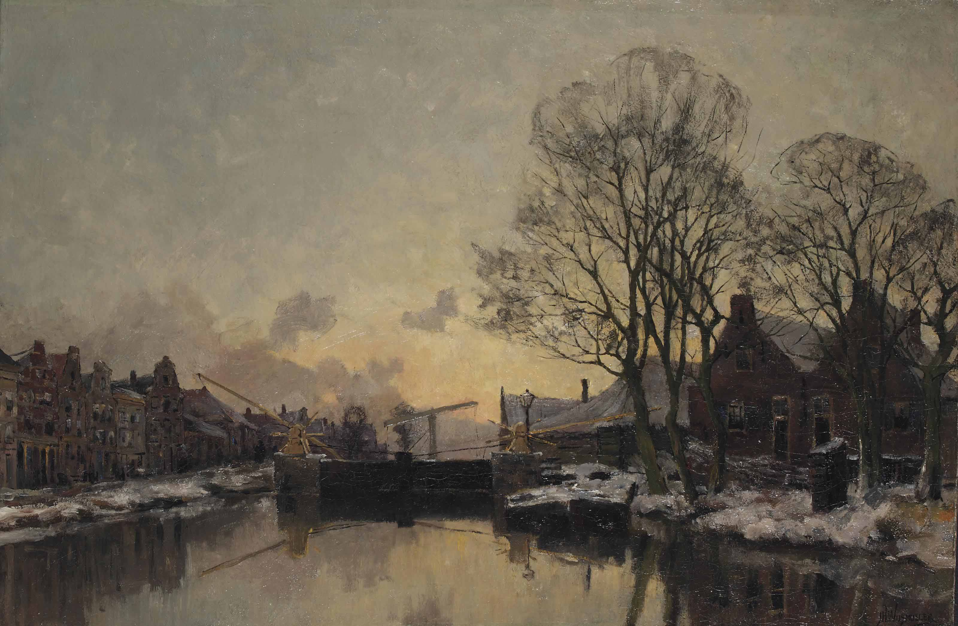 A late afternoon in winter