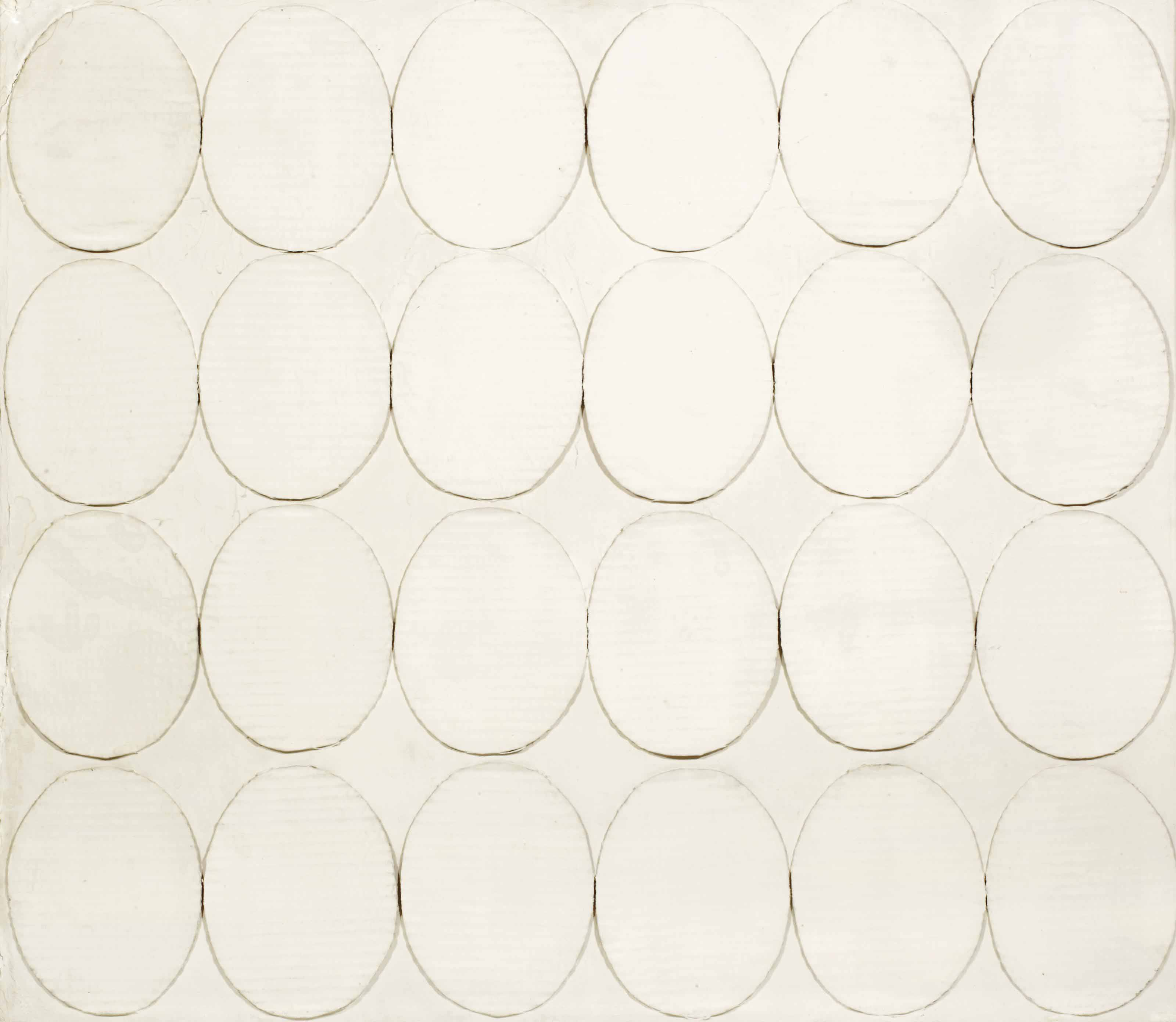 Untitled (ventiquattro ovali bianchi)