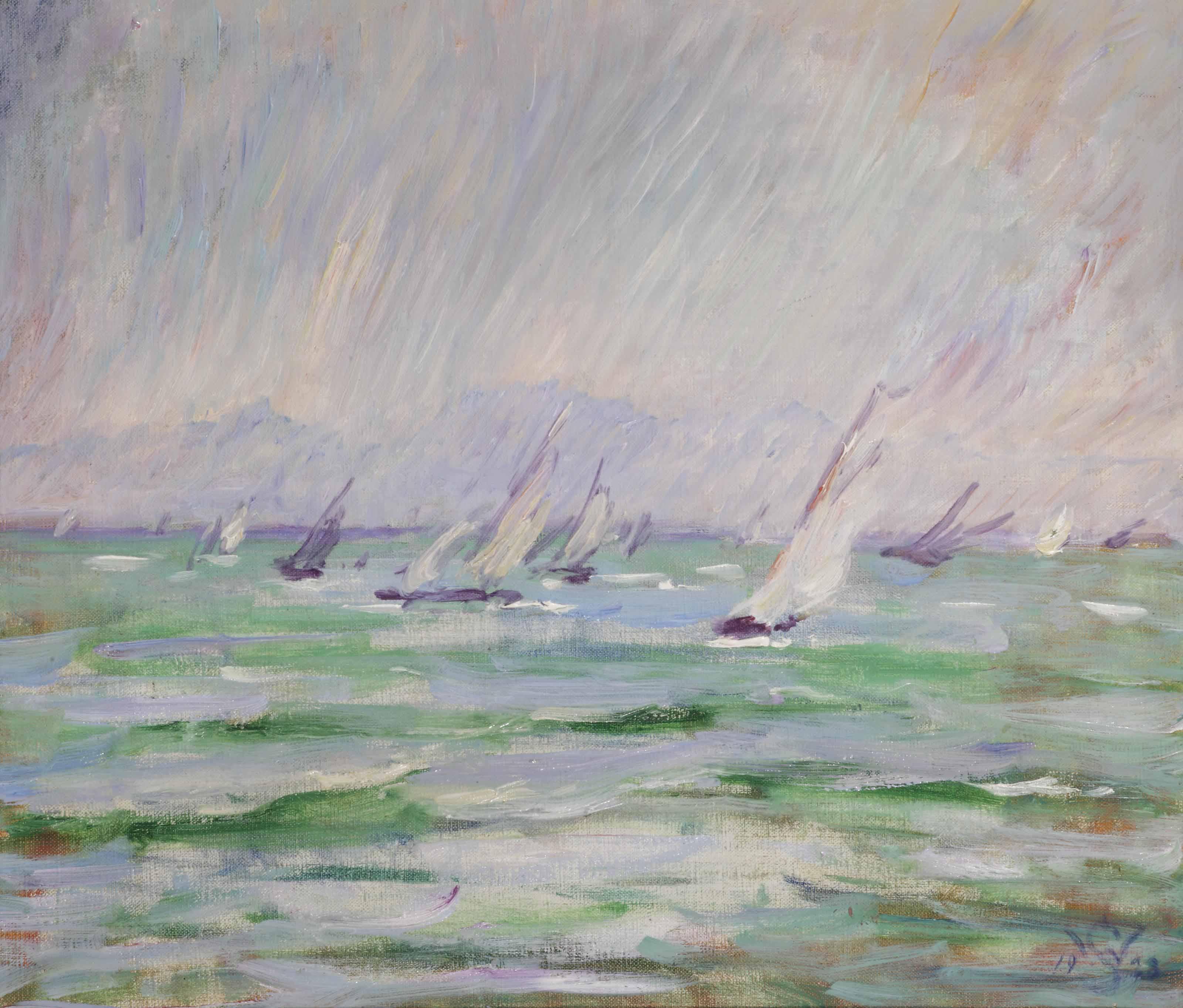 Sailing vessels at sea