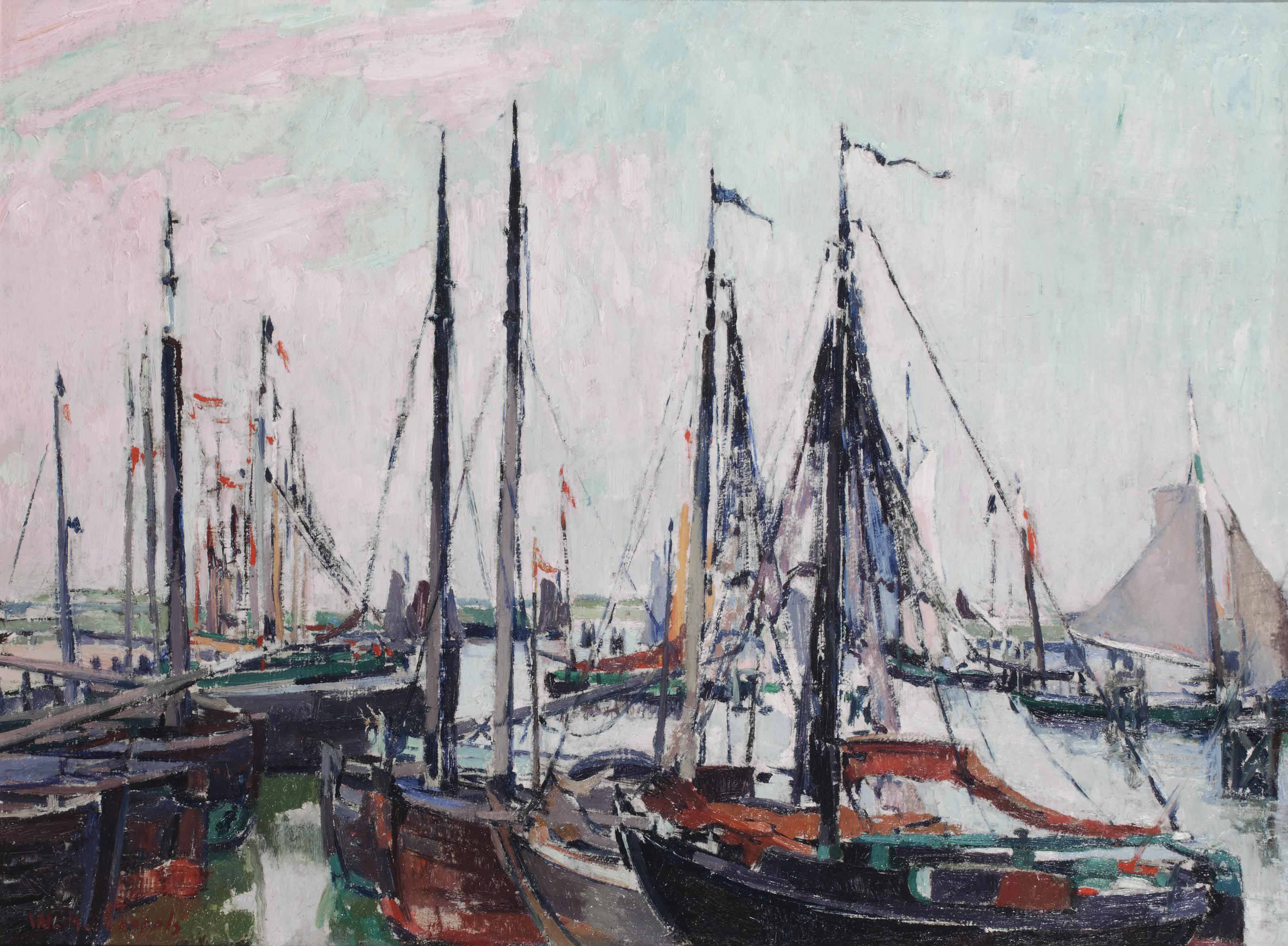 Sailing boats in a harbour