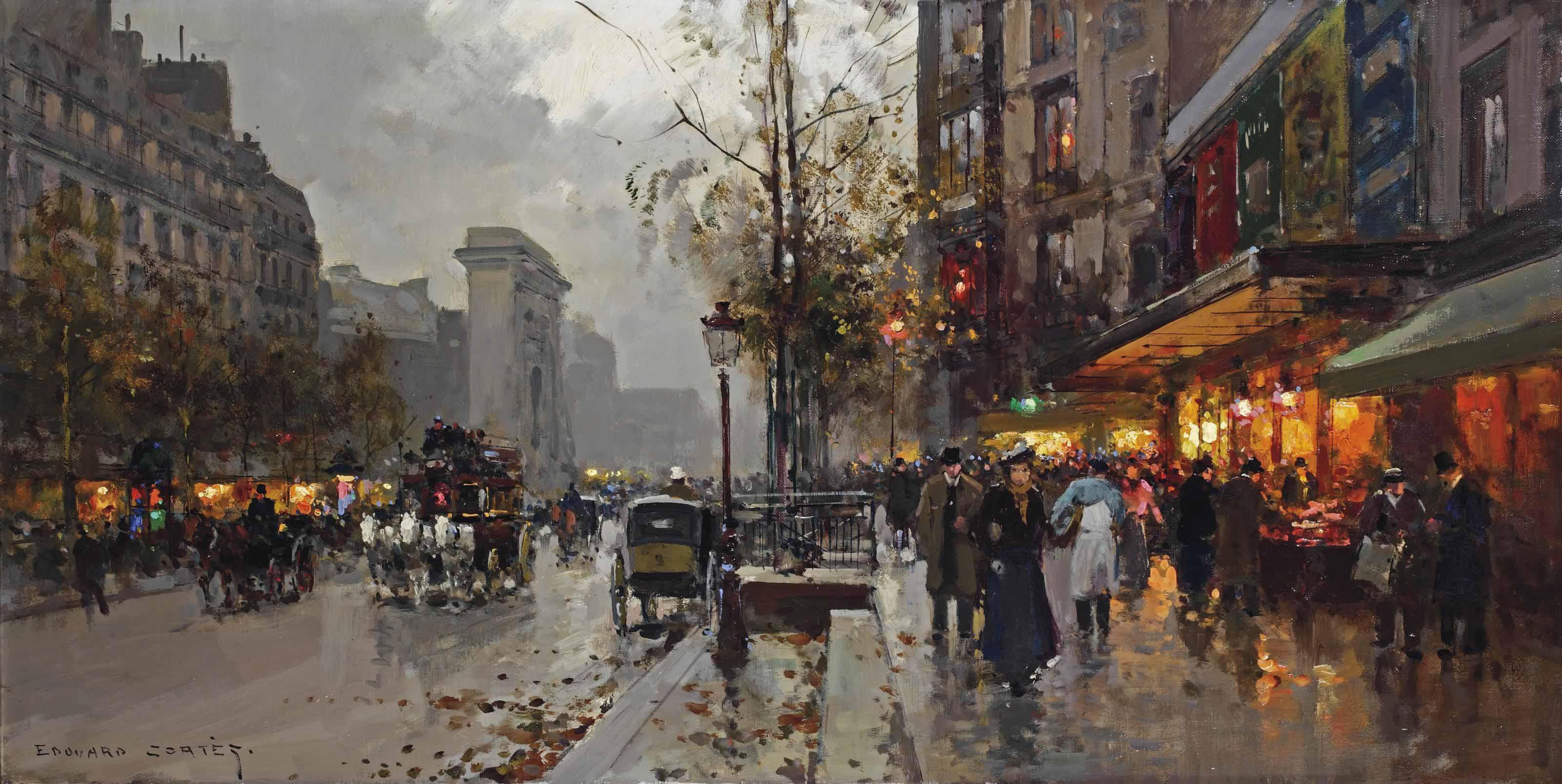 Boulevard de Bonne-Nouvelle with Porte Saint-Denis, Paris