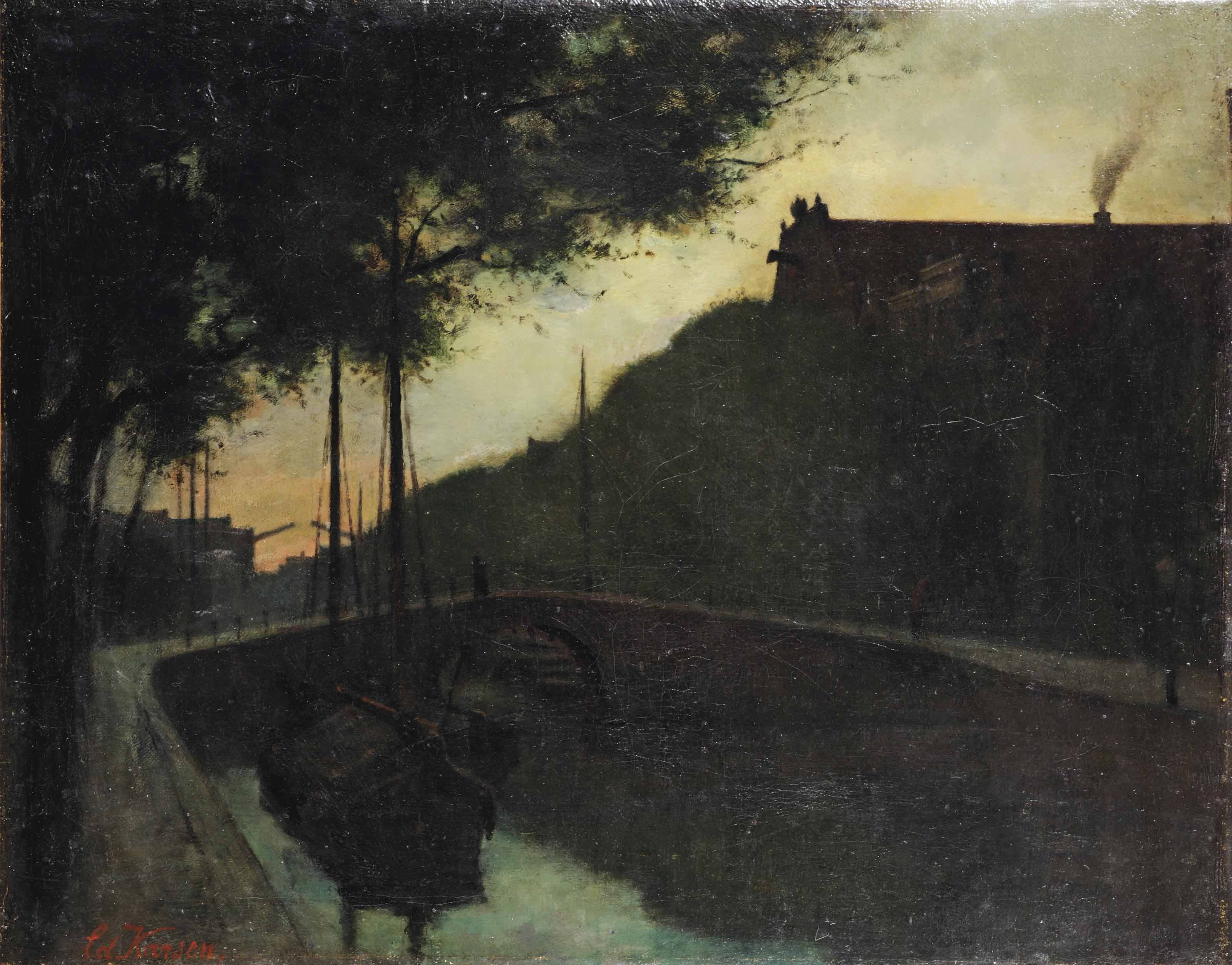 Oude stad: A sunset view of a canal