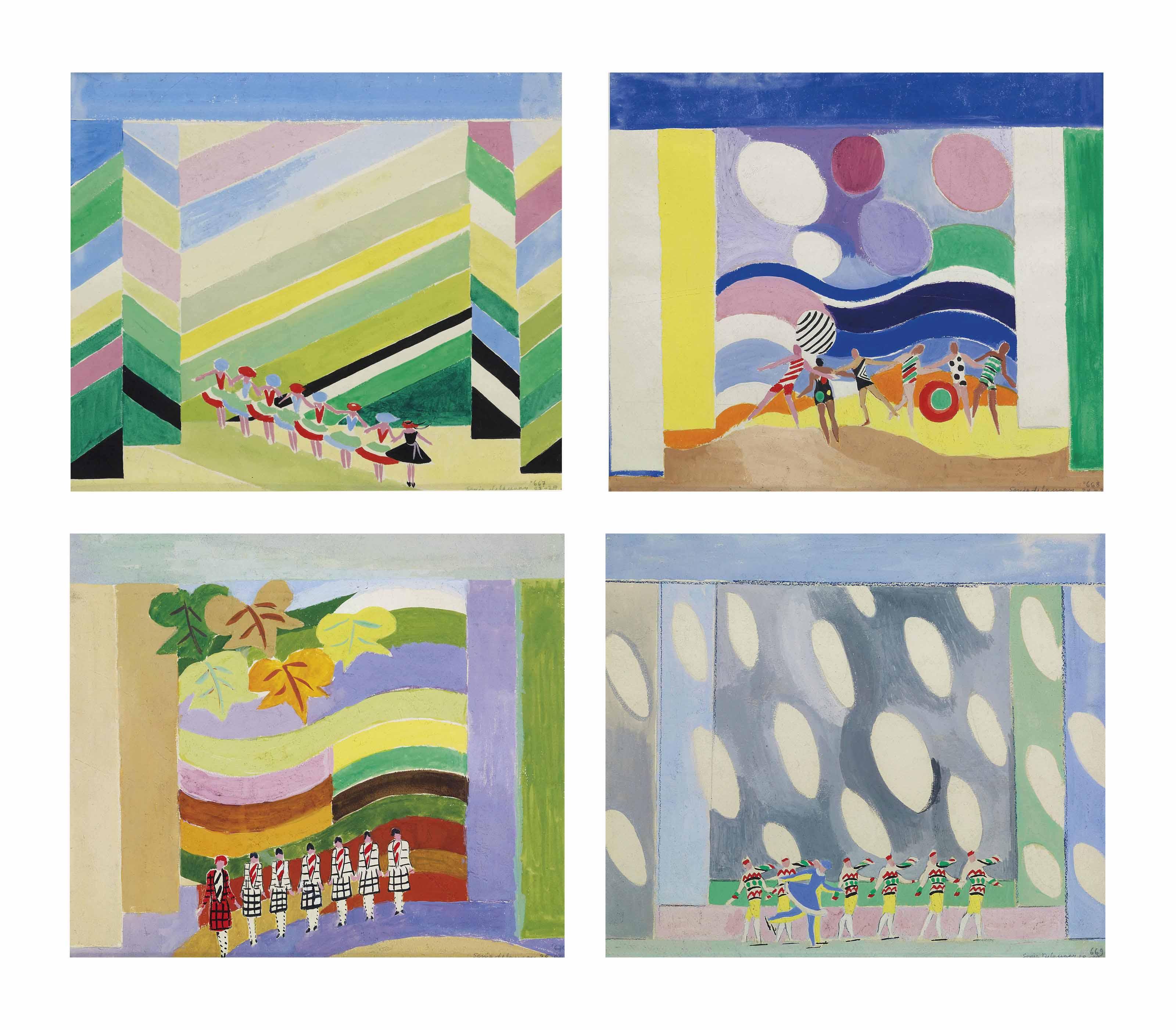 Projet de décor pour les quatre saisons (Printemps, Eté, Automne, Hiver)