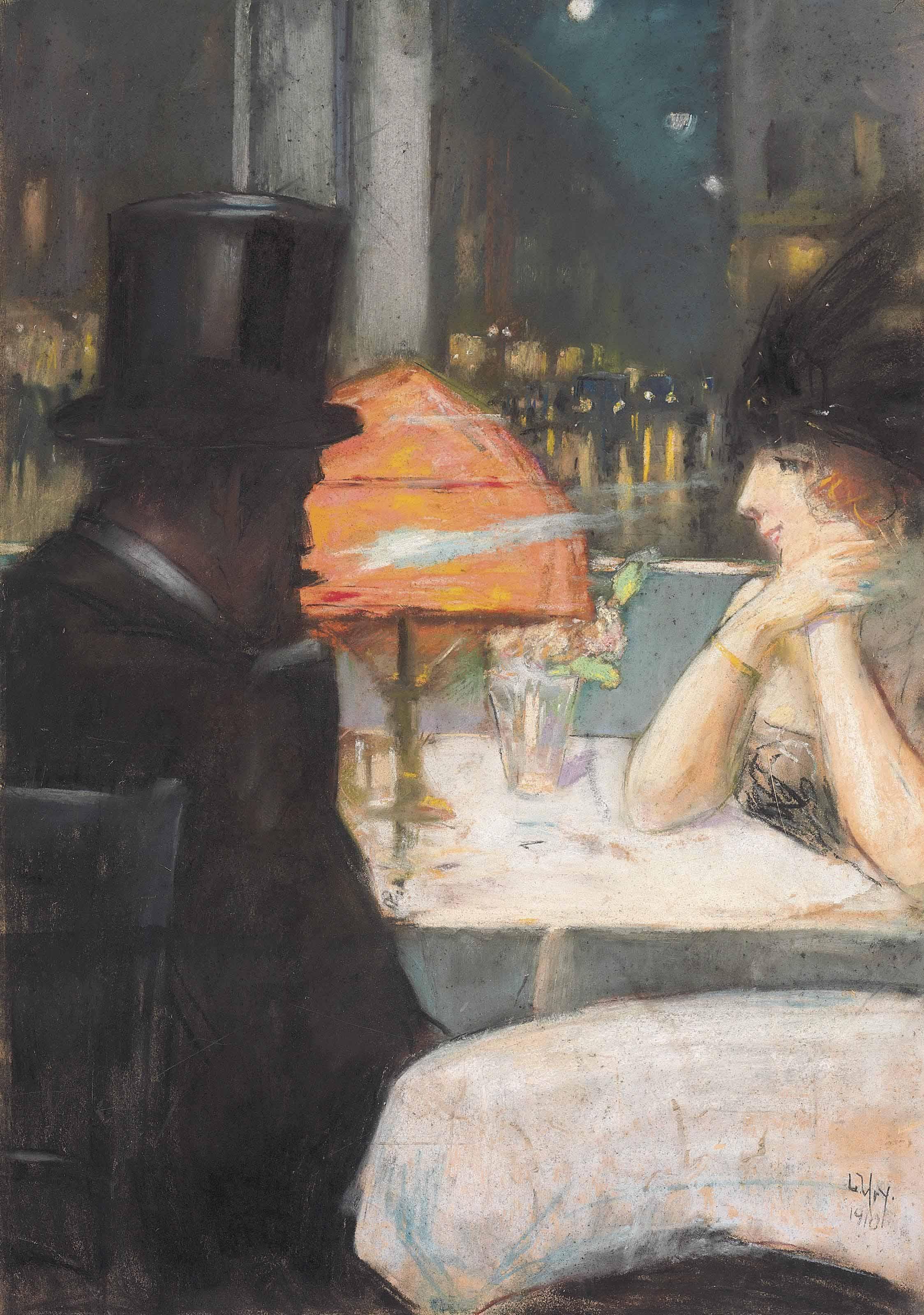 Dame und Herr im Restaurant