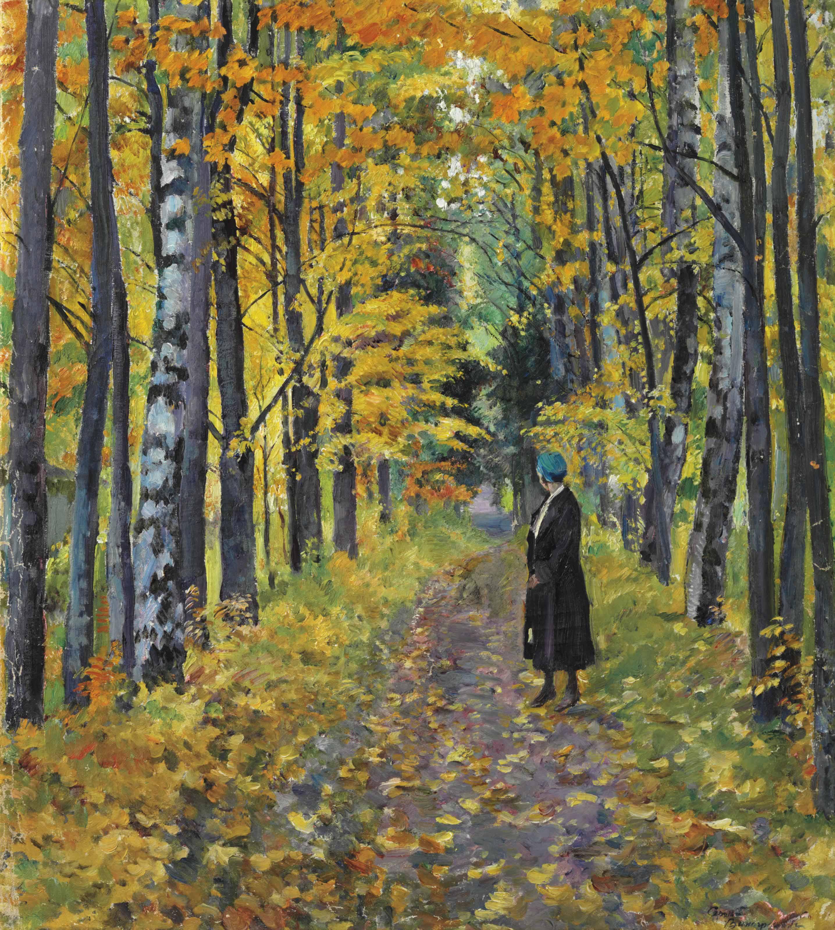 A walk through the woods in autumn