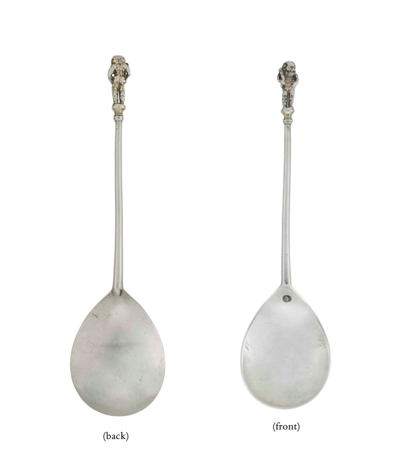 The Benson Wodewose, a Henry VI silver wodewose spoon, circa 1440. 7⅝  in (19.5  cm) long. Sold for £85,875 on 4 June 2013  at Christie's in London
