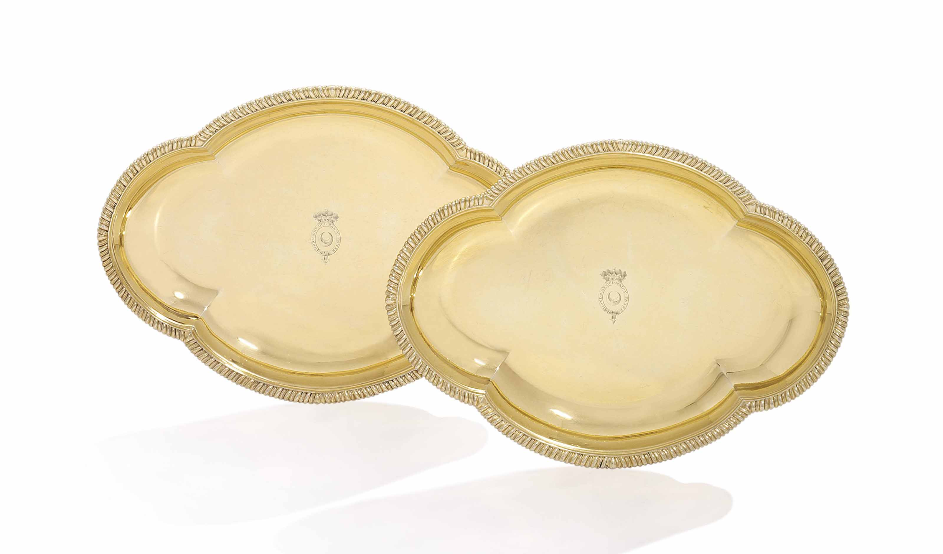 A PAIR OF GEORGE III SILVER-GILT ENTREE-DISHES FROM THE NORTHUMBERLAND SERVICE