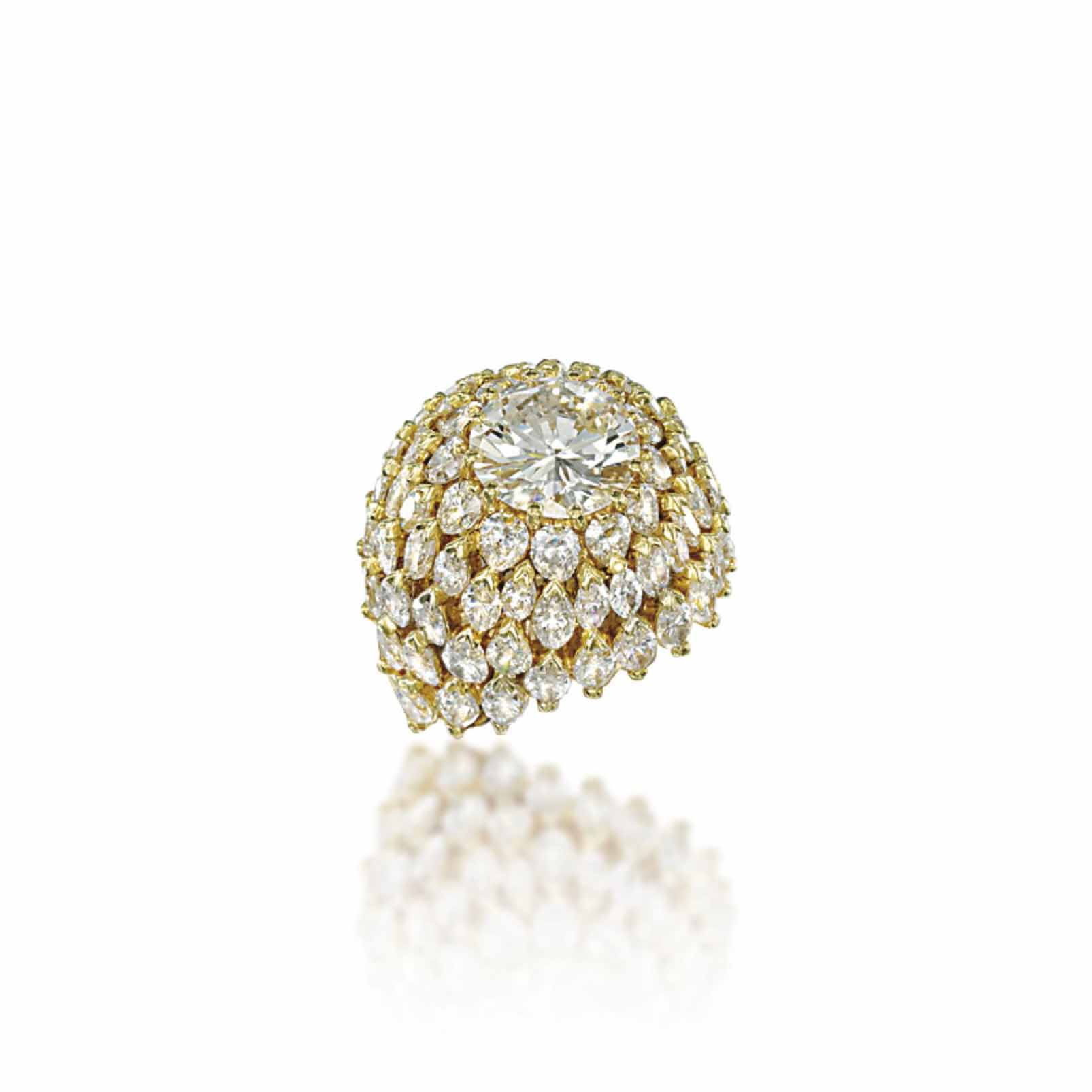 A DIAMOND COCKTAIL RING, BY CHANTECLER