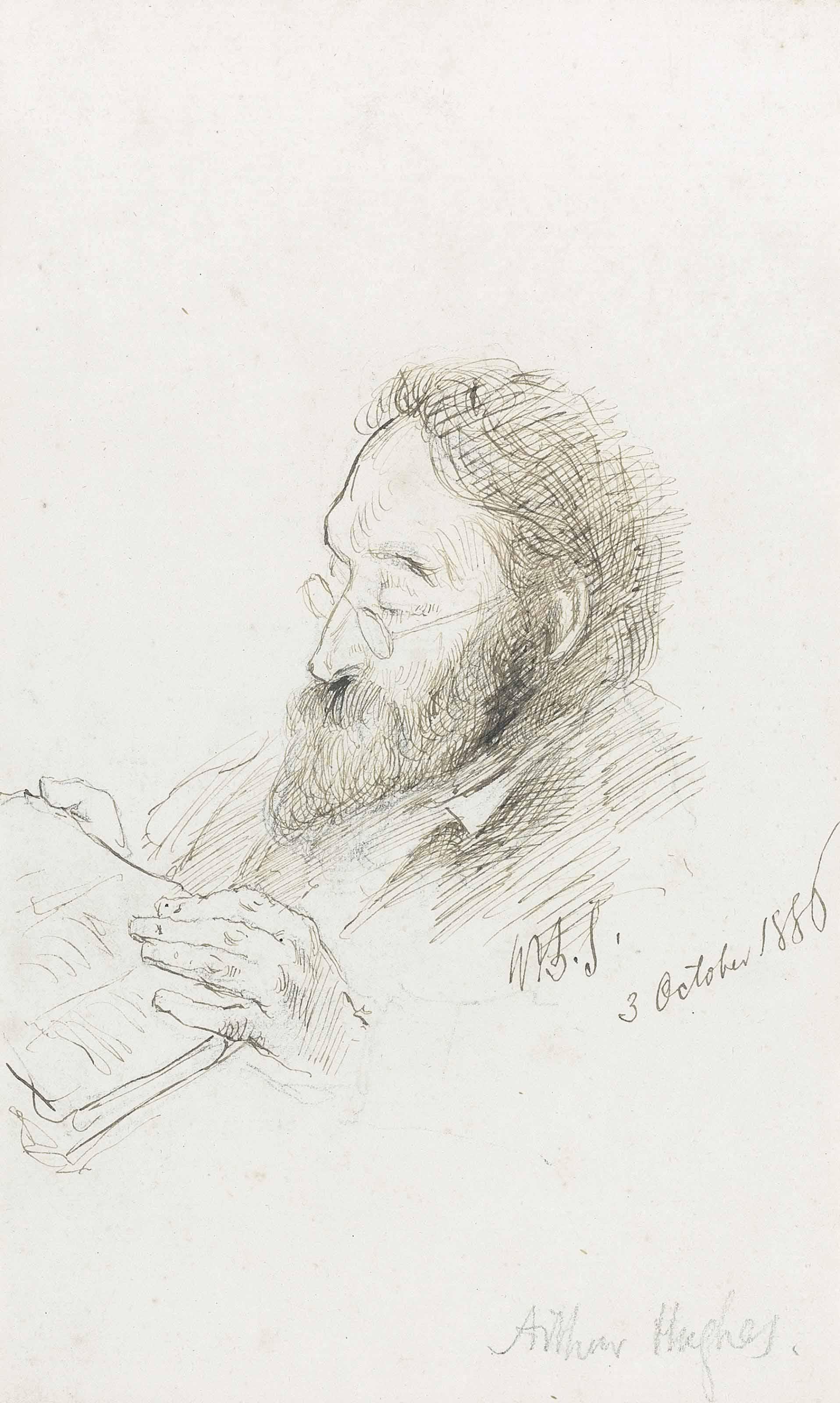 Arthur Hughes reading