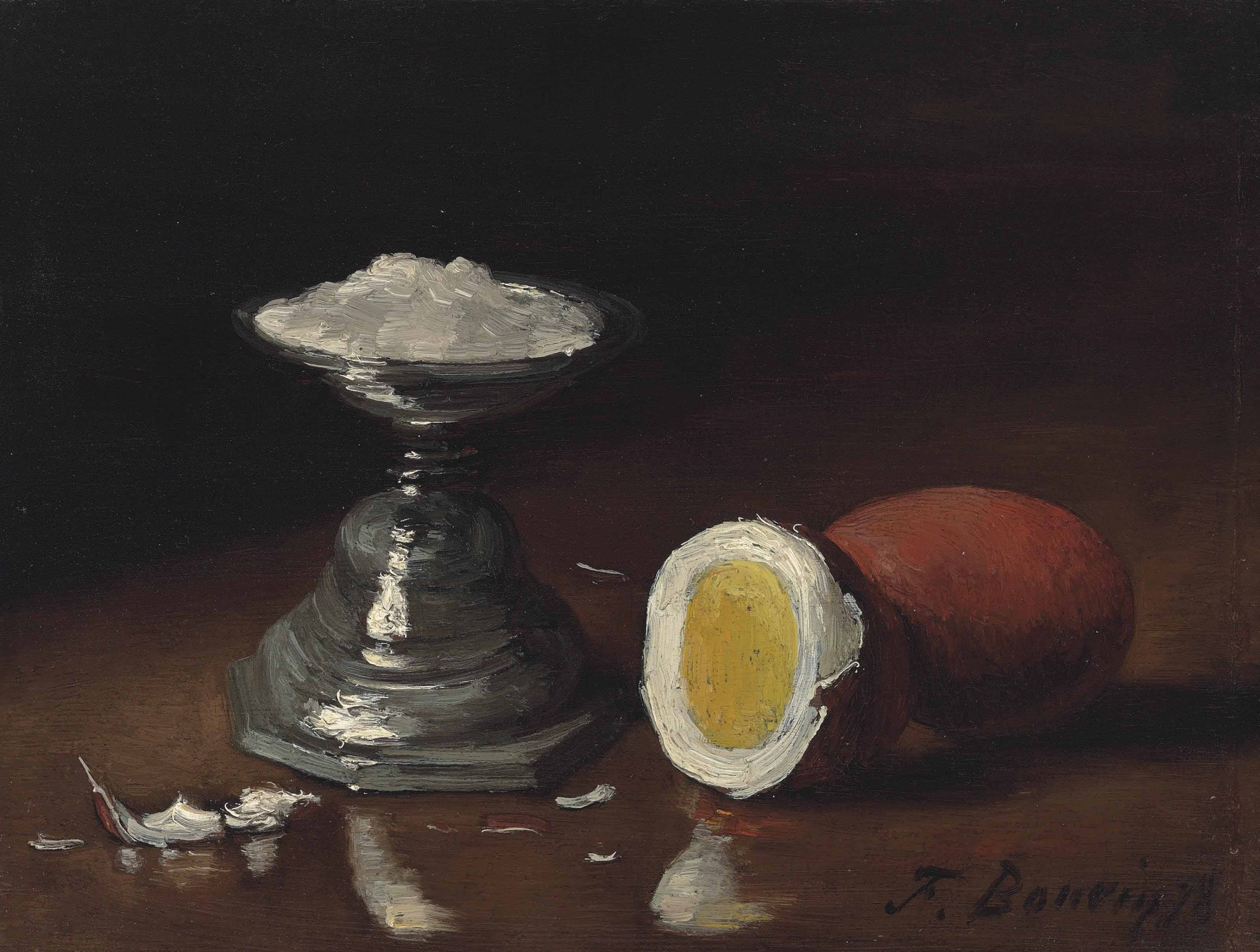 Nature morte à l'oeuf