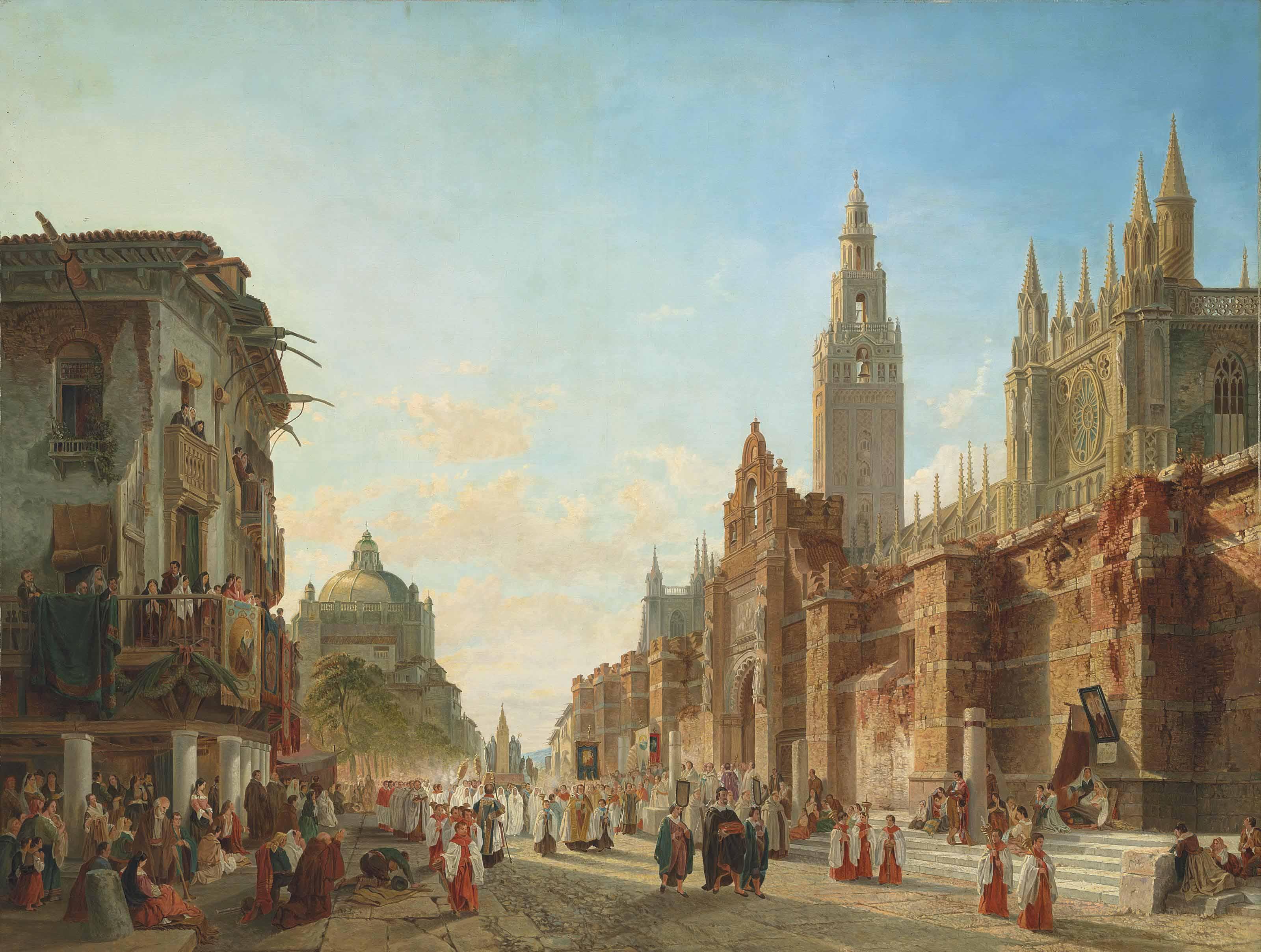 La procession des deux Patronnes à Seville