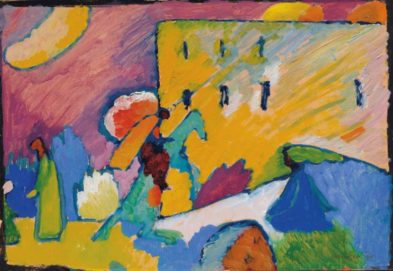 Wassily Kandinsky (1866-1944), Studie zu Improvisation 3, 1909. 17⅝ x 25½  in (44.7 x 64.7 cm). Sold for £13,501,875 on 18 June 2013  at Christie's in London
