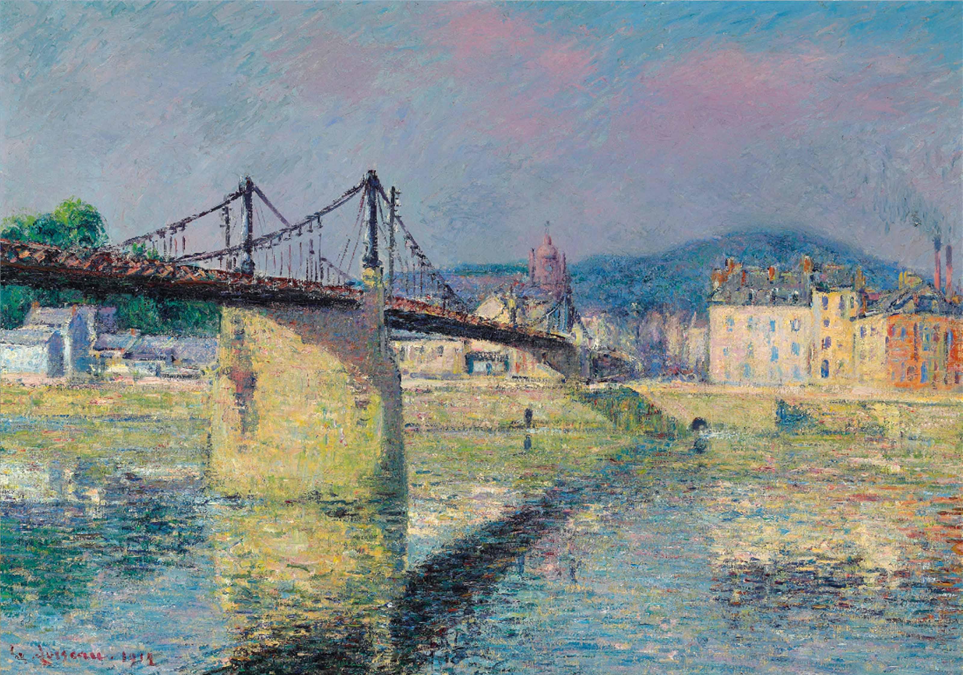 Le pont suspendu à Elbeuf