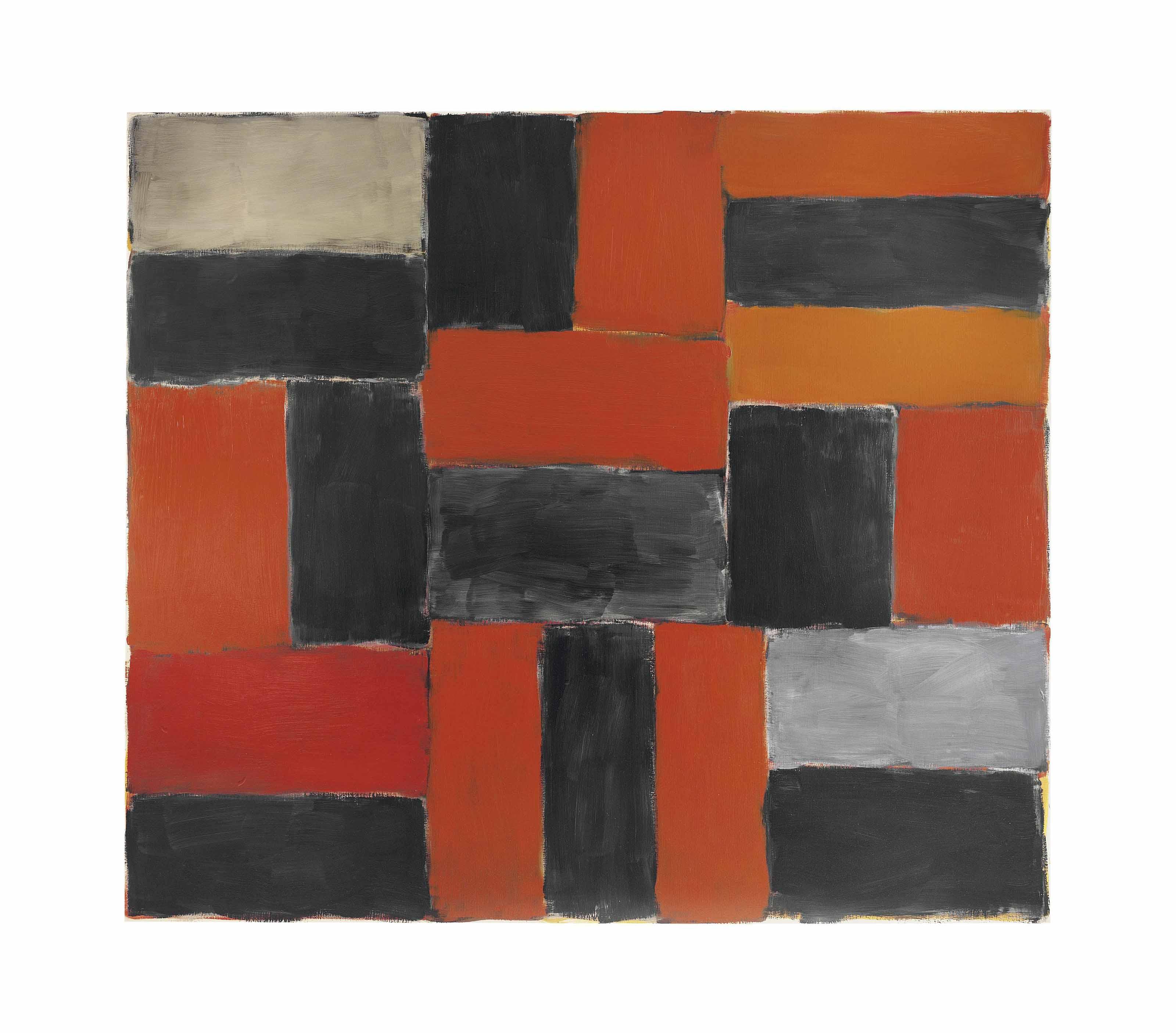 Wall of Light Orange Grey
