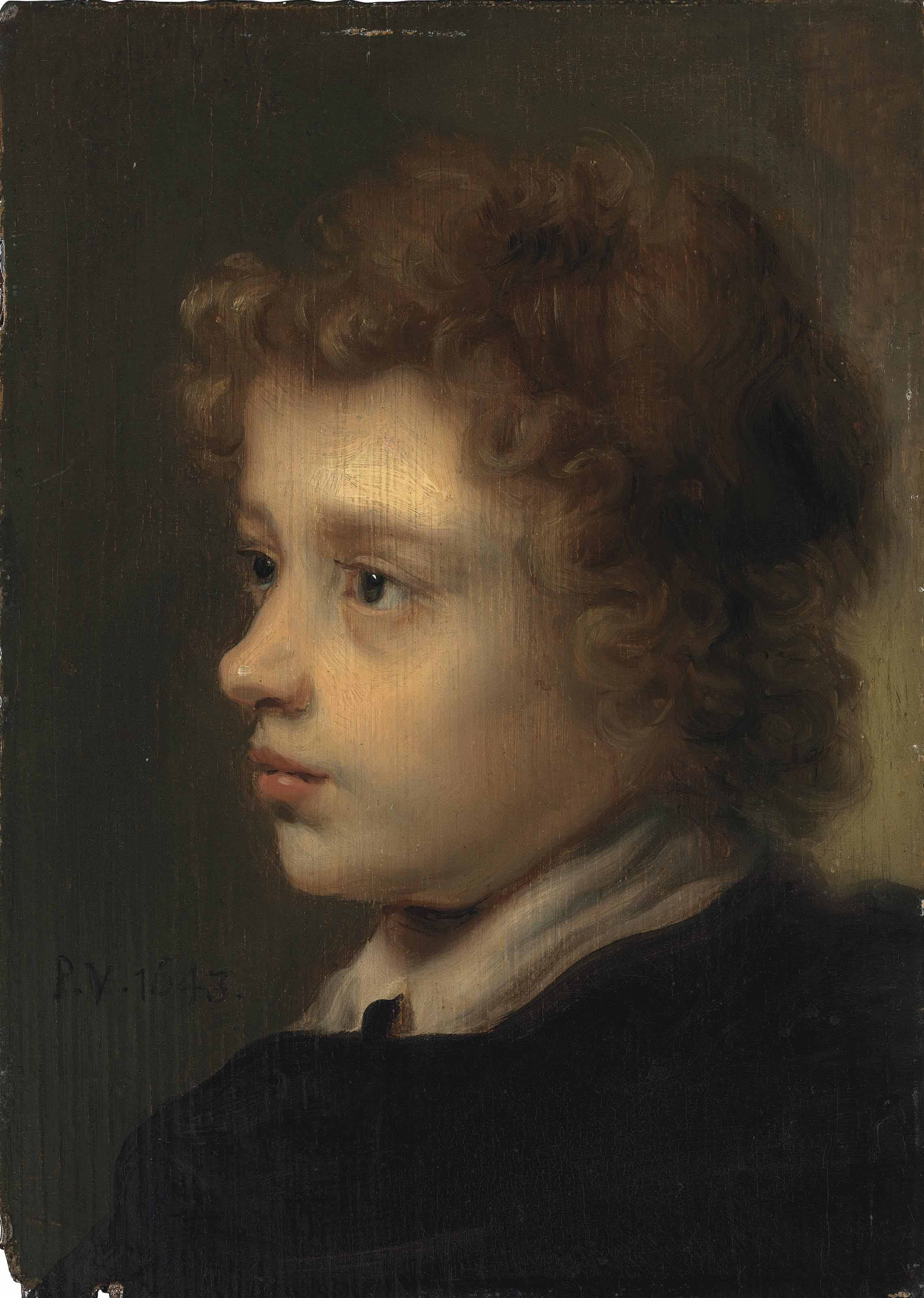 Head study of a young boy