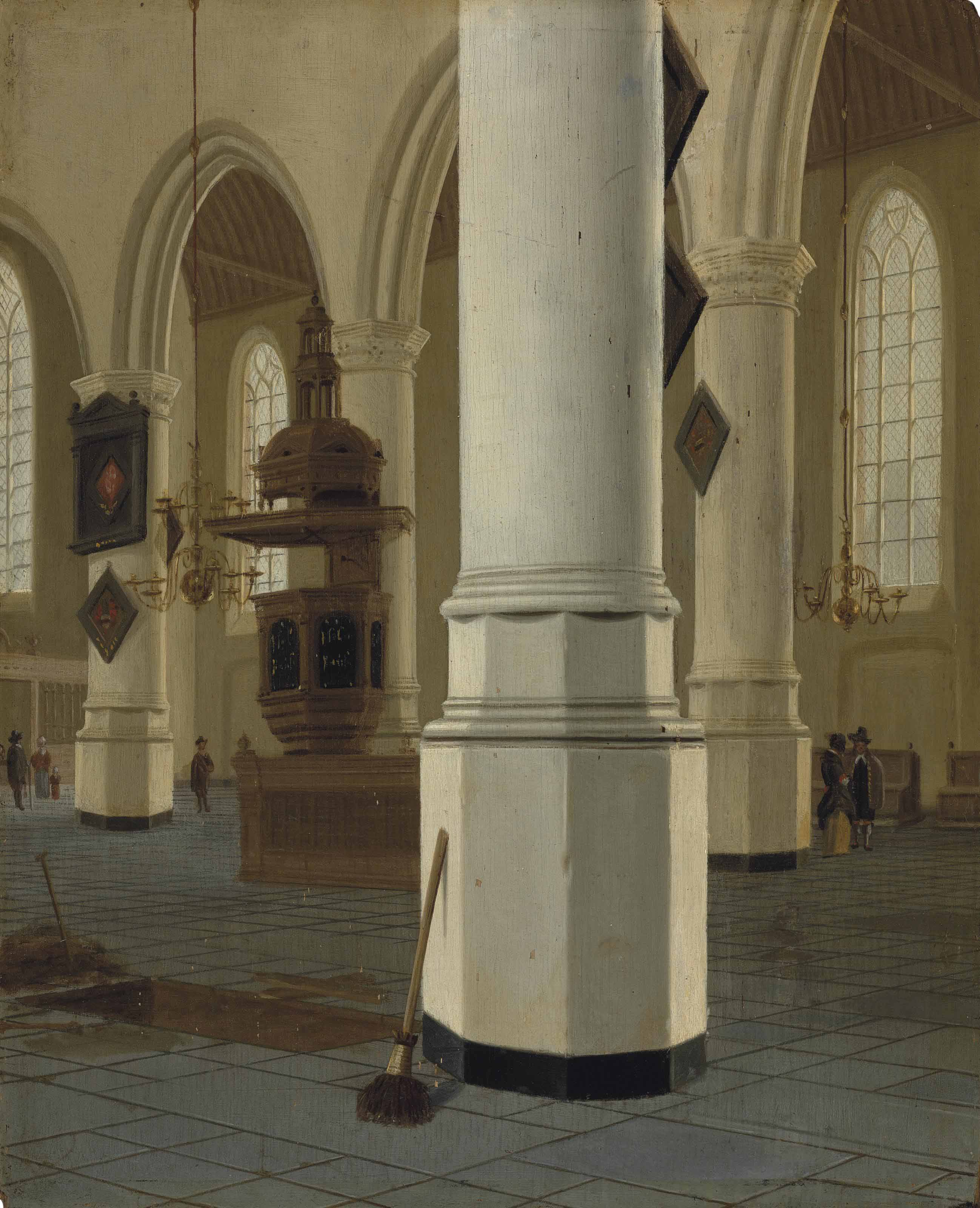Interior of the Oude Kerk, Delft, seen from the northern aisle, looking to the southeast
