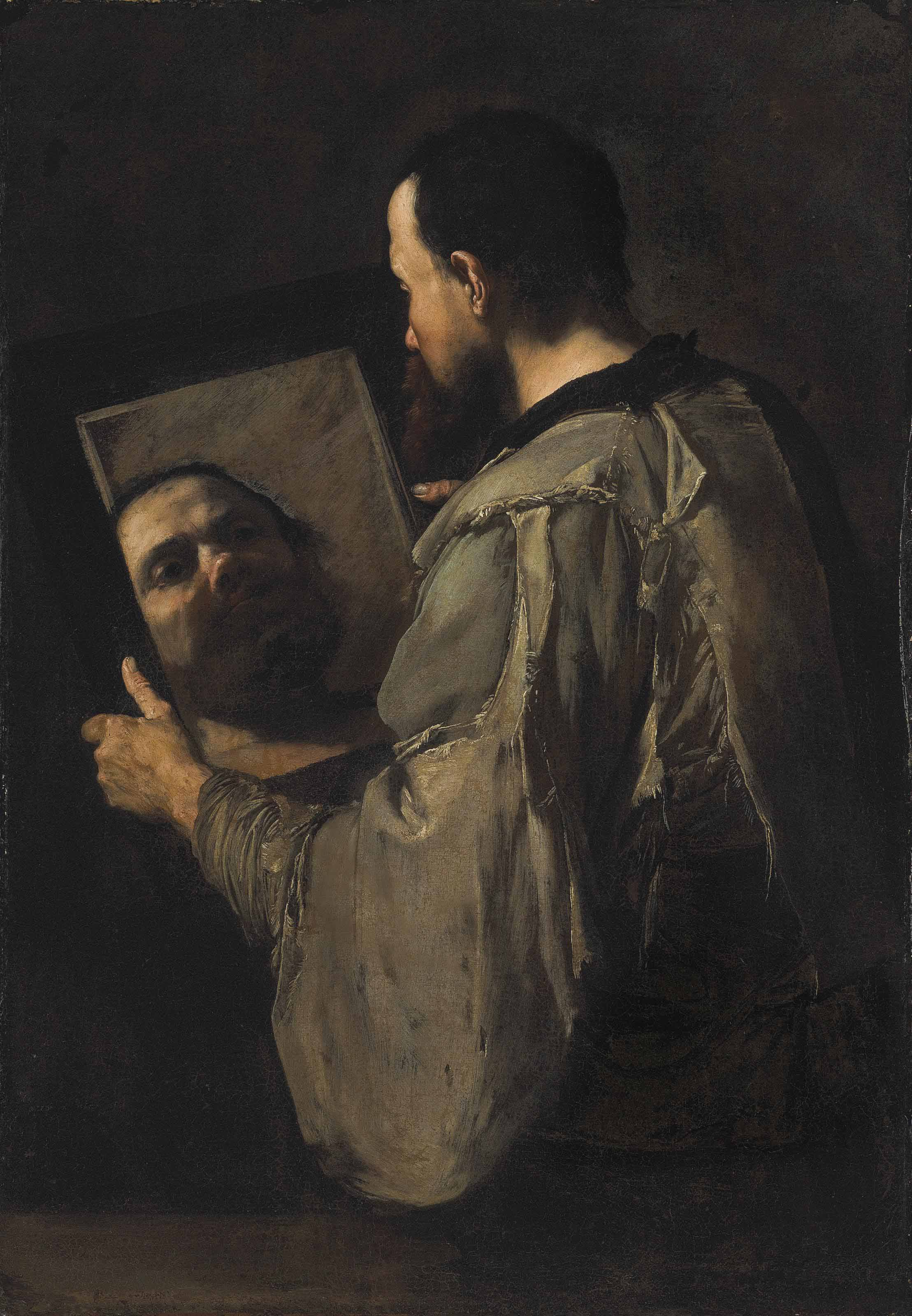 A philosopher holding a mirror