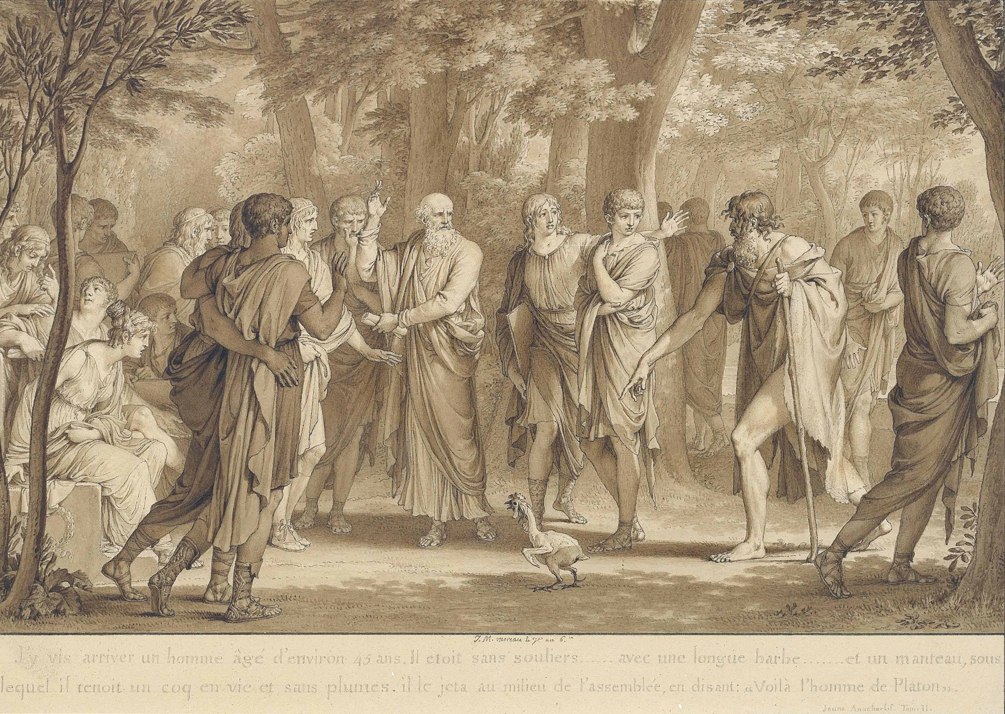'Voilà l'homme de Platon': An illustration to Jean-Jacques Barthélémy's Voyage du jeune Anacharsis en Grèce