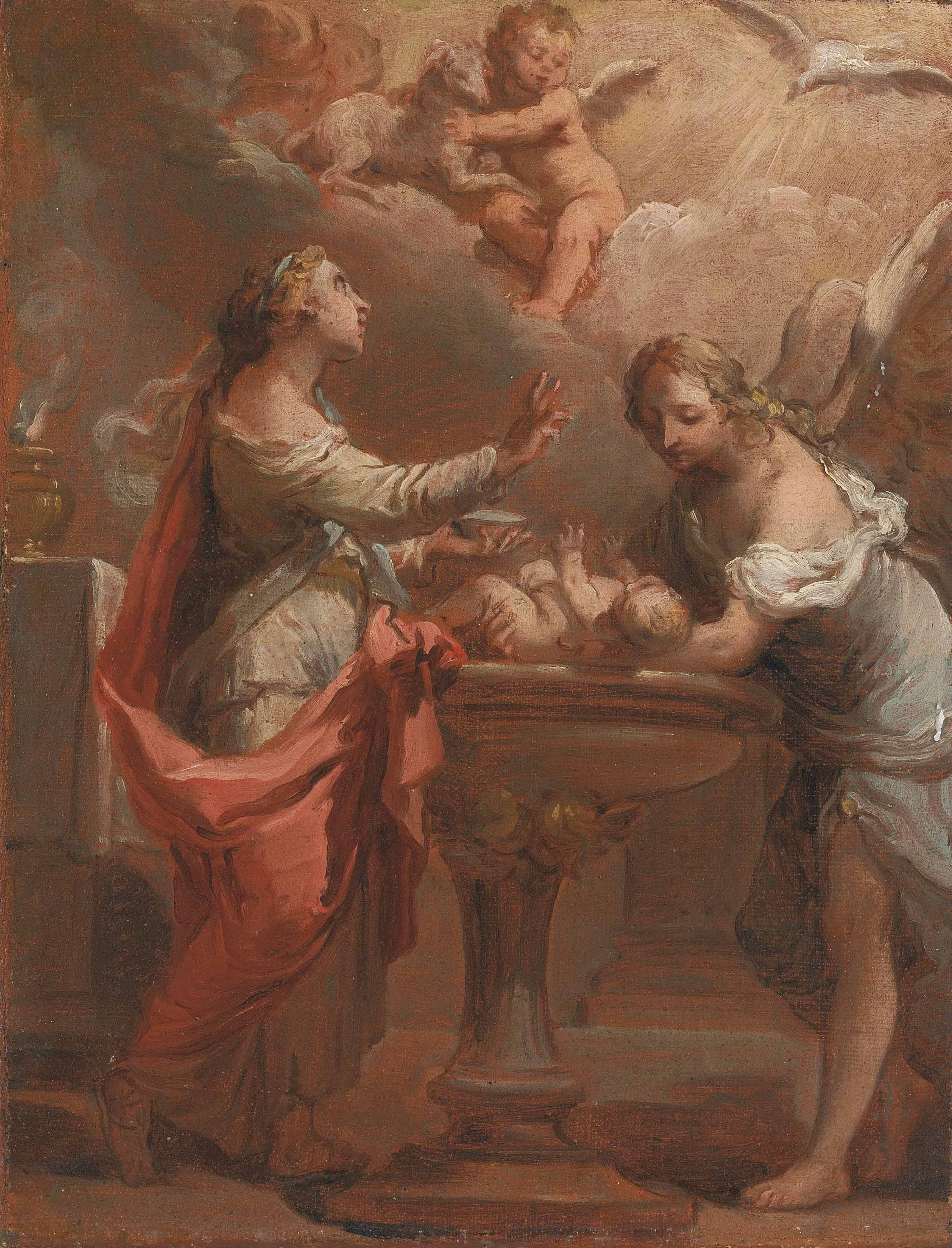 An Allegory of the Sacrament of Baptism - a bozzetto