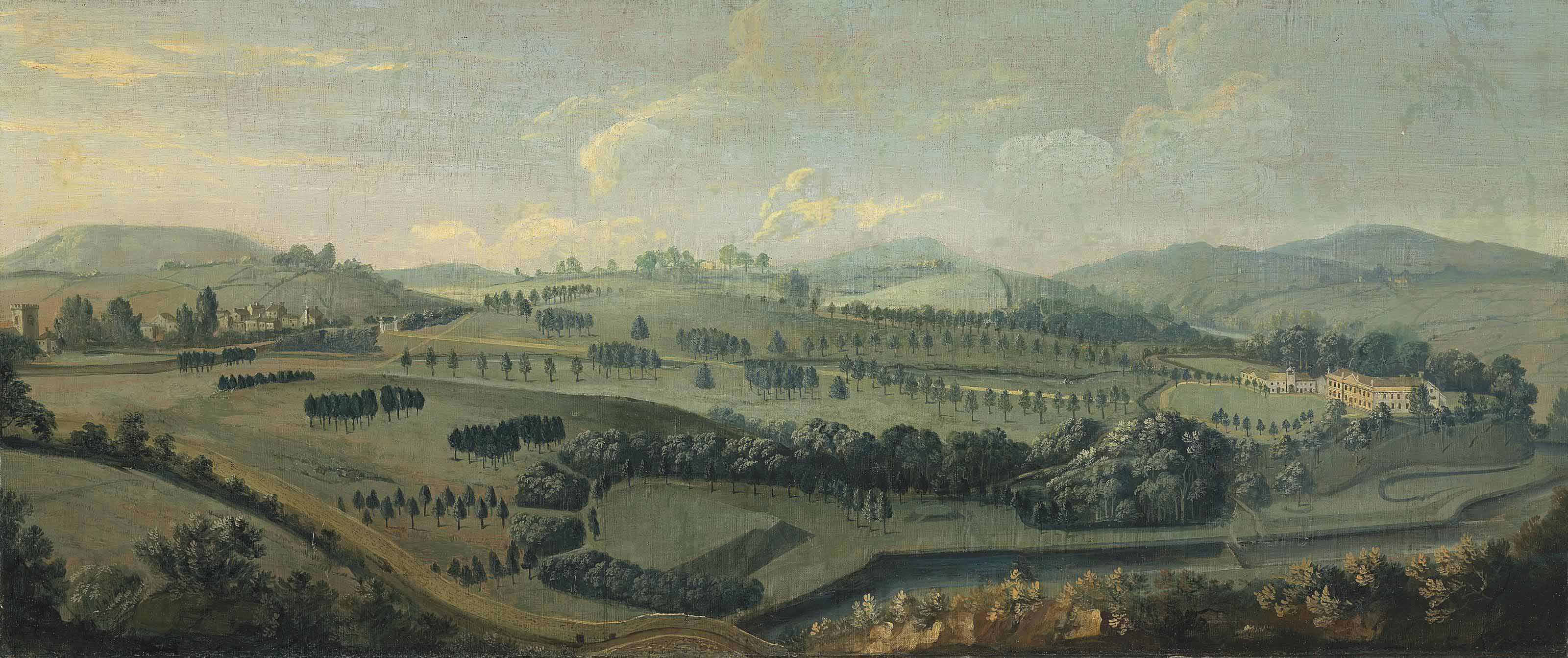 A view of Gisburne Park, Yorkshire, and the park