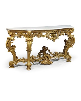 A PAIR OF VICTORIAN GILTWOOD C