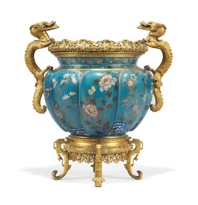A FRENCH ORMOLU-MOUNTED CLOISO