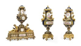 A FRENCH ORMOLU-MOUNTED SEVRES