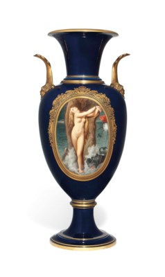 A FRENCH PORCELAIN BLUE-GROUND