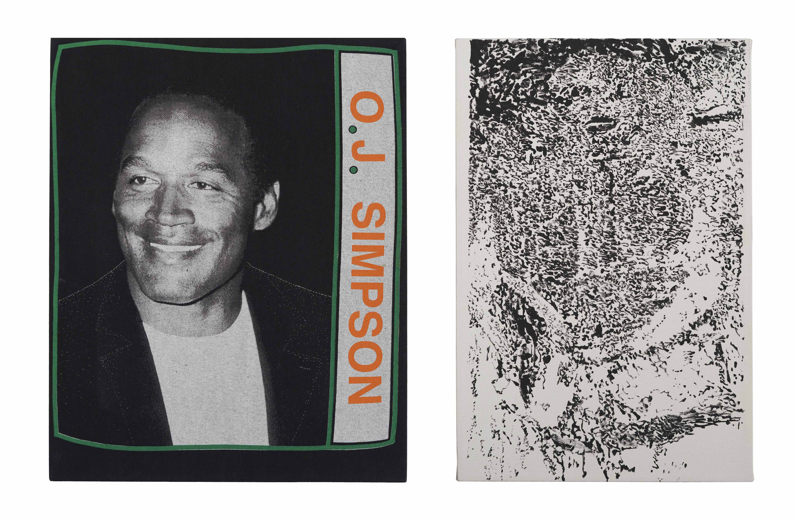 Anger Management Diptych (Juice and De Kooning's Marylin)