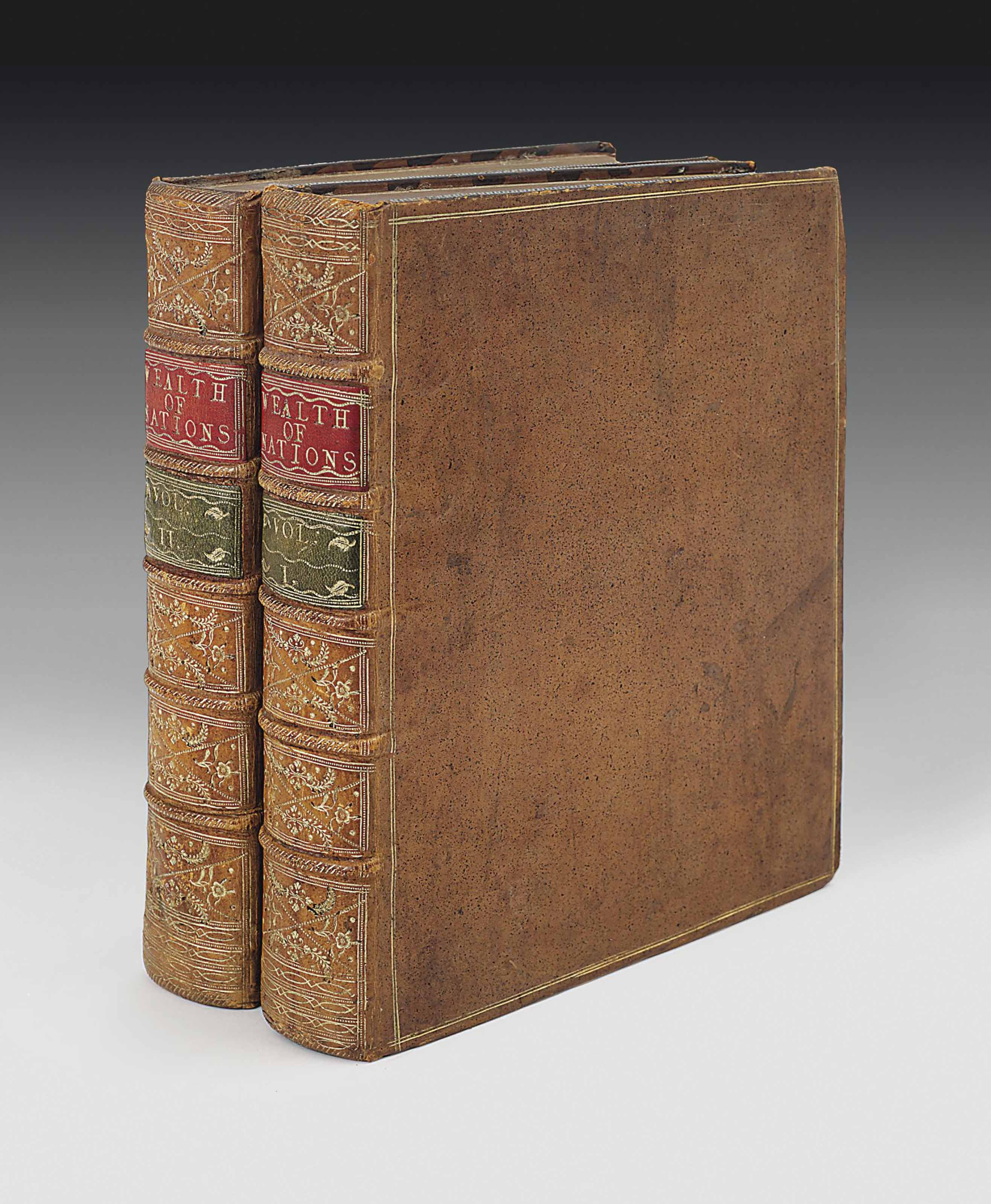 SMITH, Adam (1723-90). An Inquiry into the Nature and Causes of the Wealth of Nations. London: for W. Strahan and T. Cadell, 1776.
