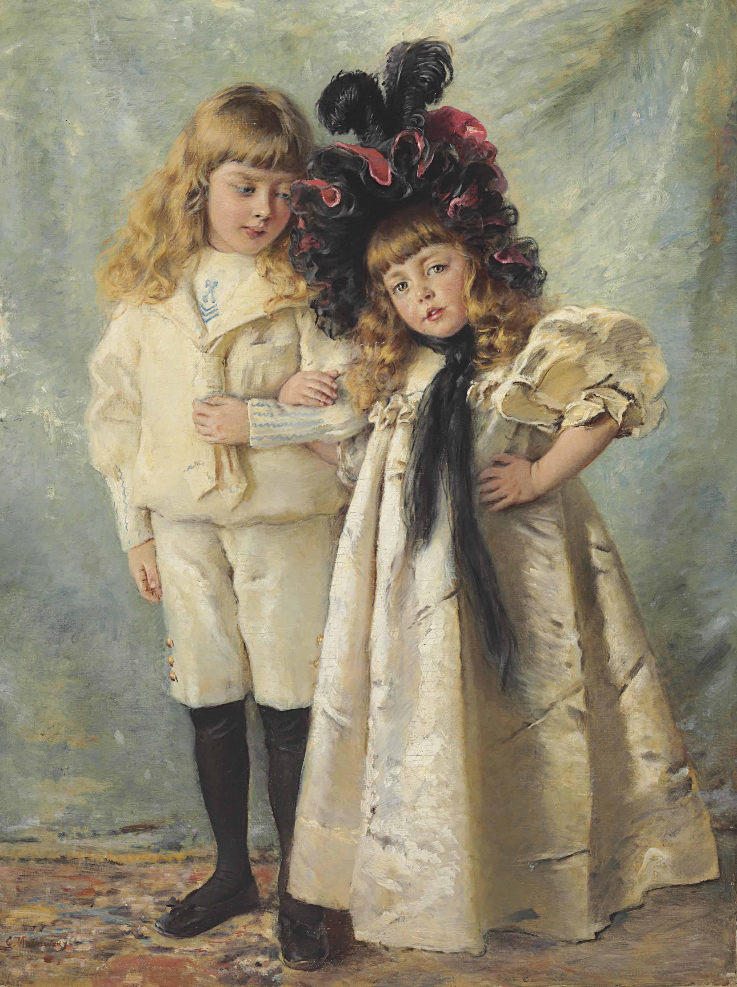 Portrait of the artist's children: Konstantin and Olga