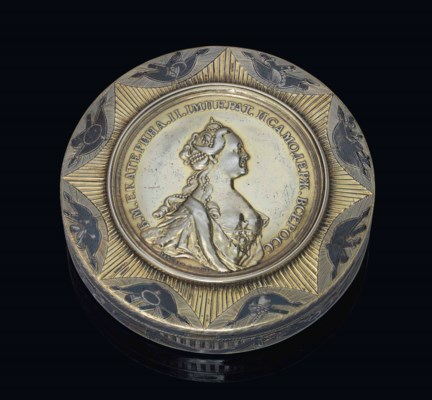 A FINE PARCEL-GILT SILVER AND