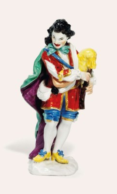 A MEISSEN FIGURE OF AN ACTOR P