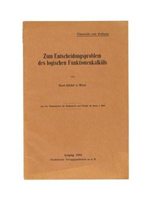 GÖDEL, Kurt (1906-1978). 'Zum