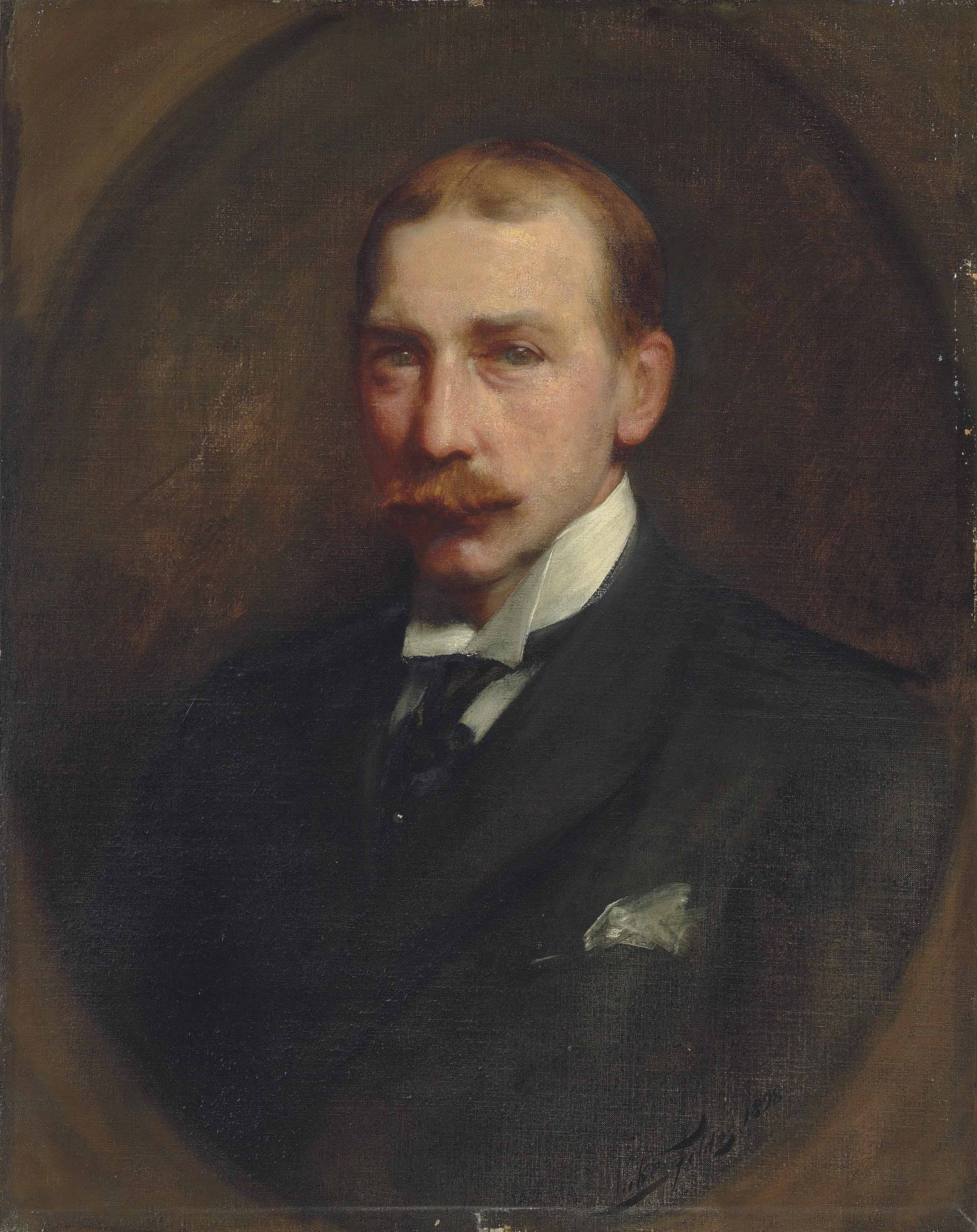 Portrait of (William) Lockett Agnew (1858-1918), half-length