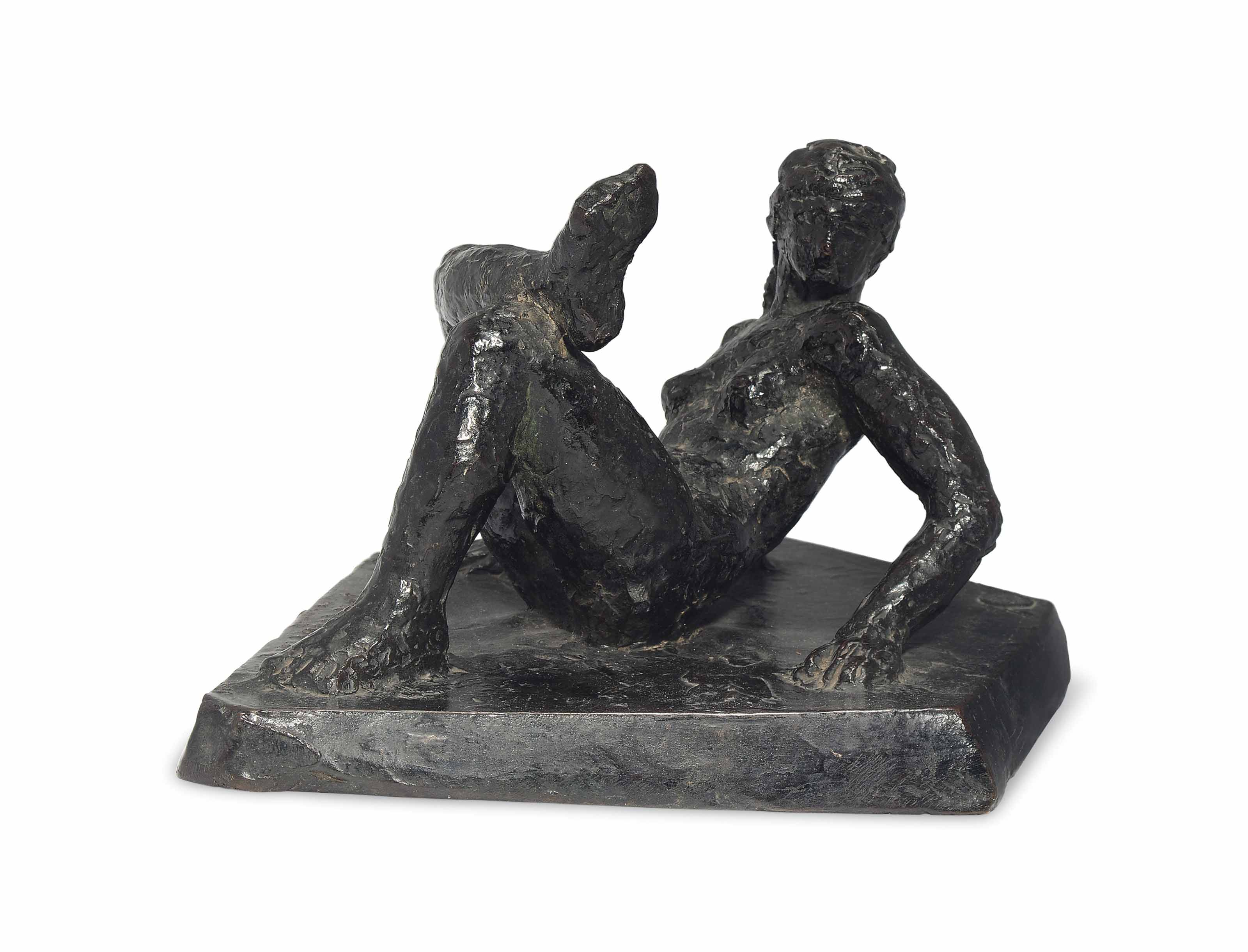 A FRENCH BRONZE FIGURE OF A NUDE