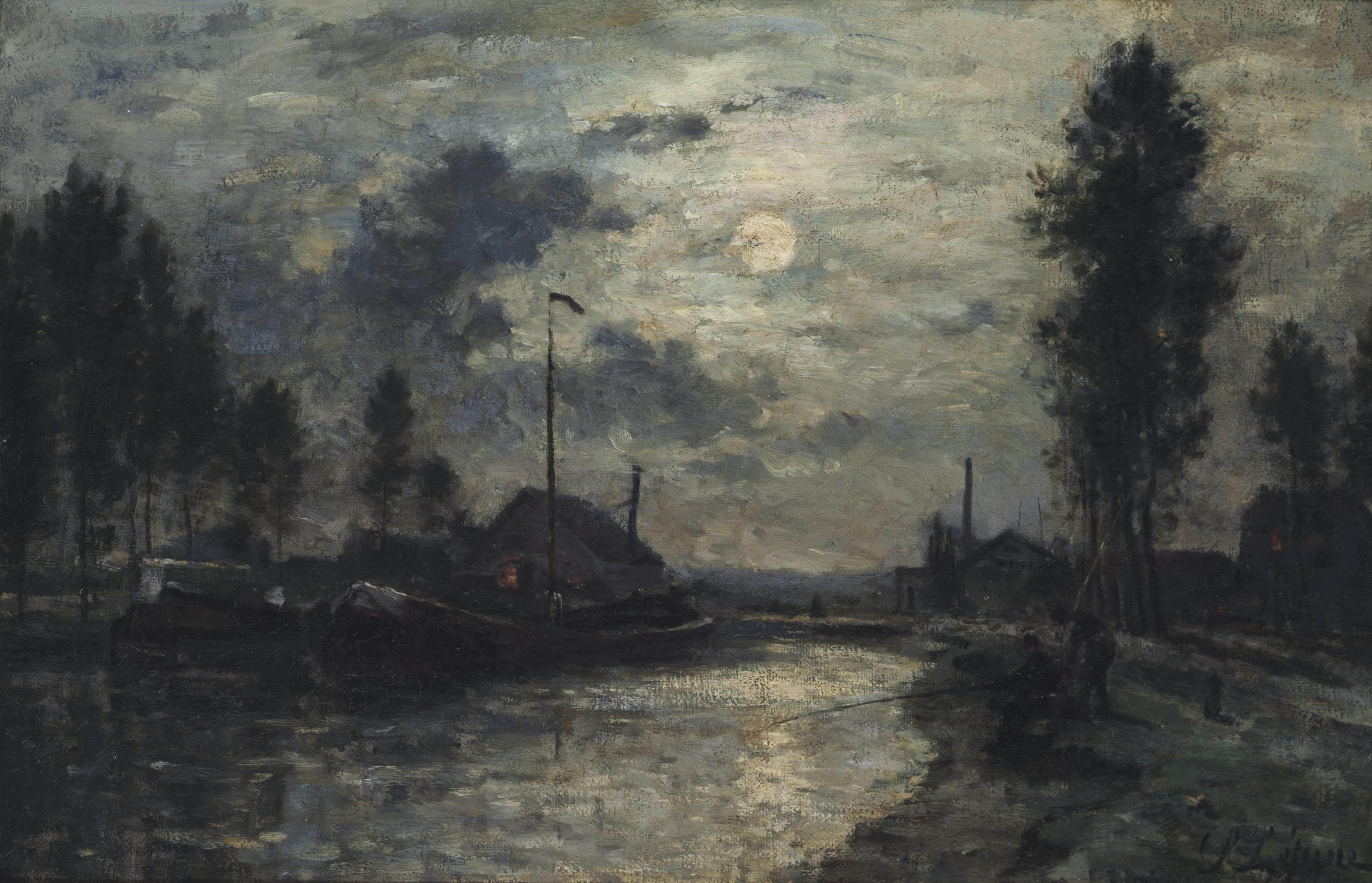 Le Canal Saint-Denis, clair de Lune