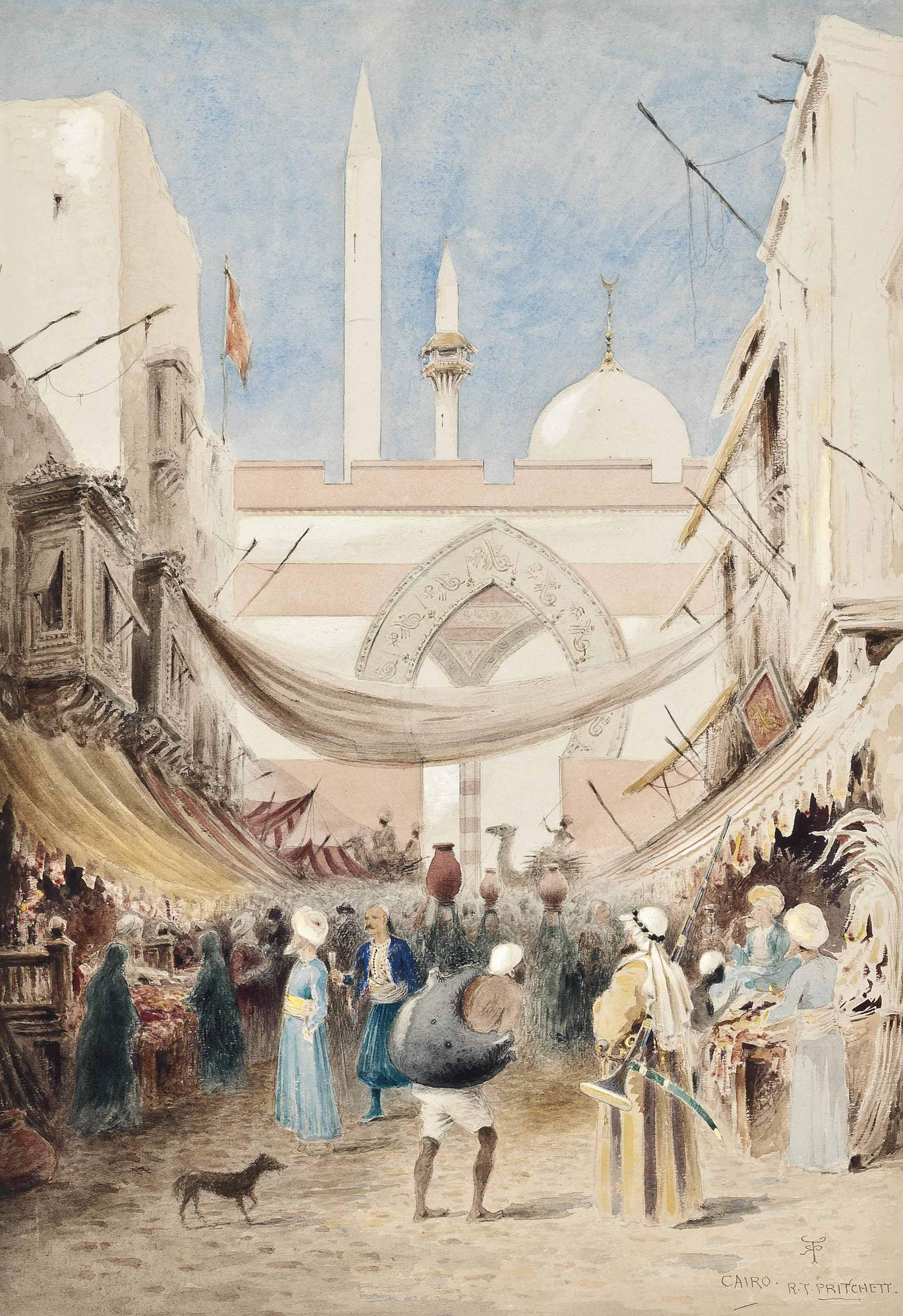 Arabs in the souk, Cairo