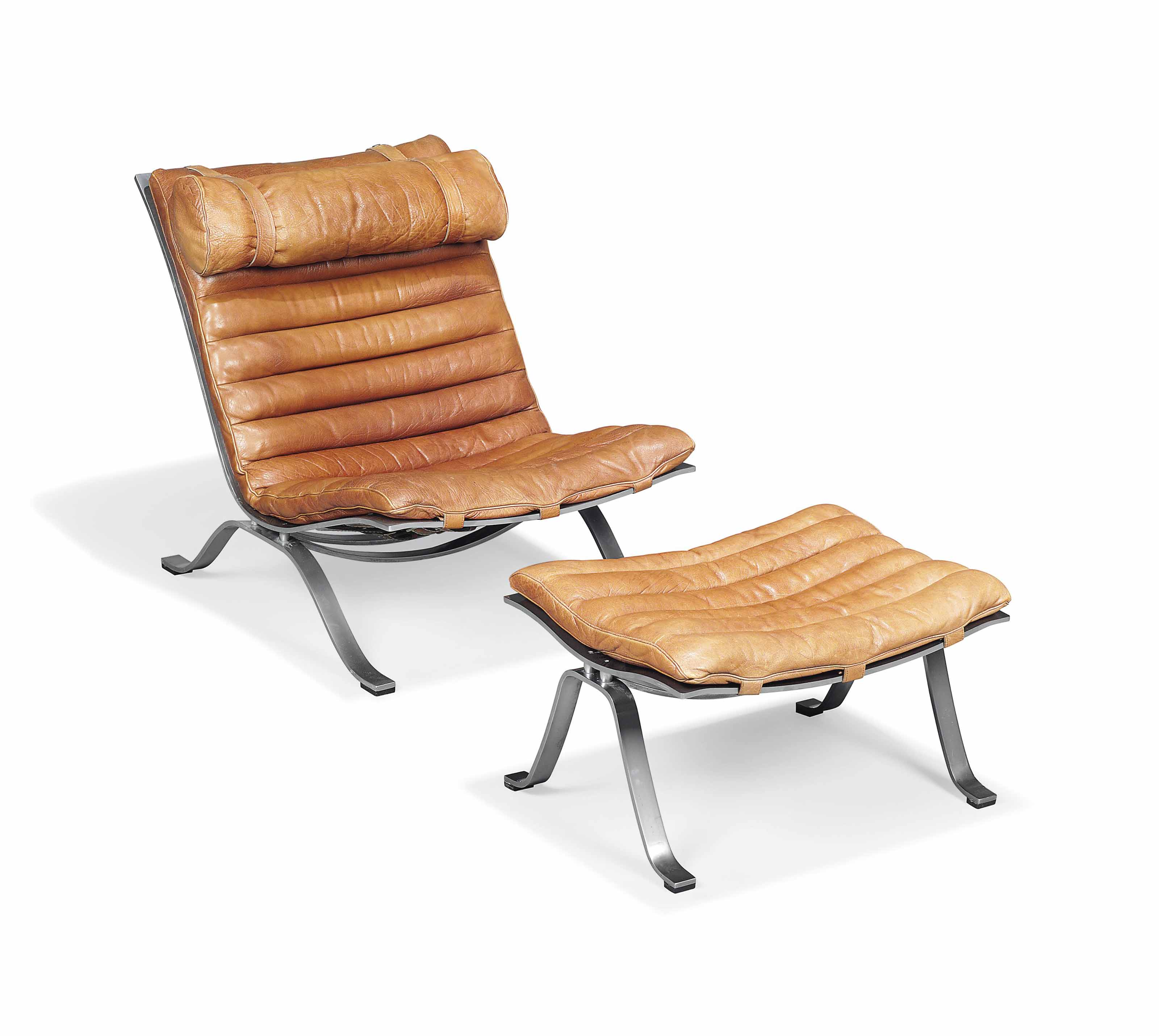 AN ARNE NORELL (1917-1971) 'ARI' CHAIR AND OTTOMAN