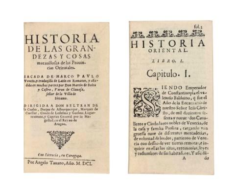 POLO, Marco (1254-1324). Histo